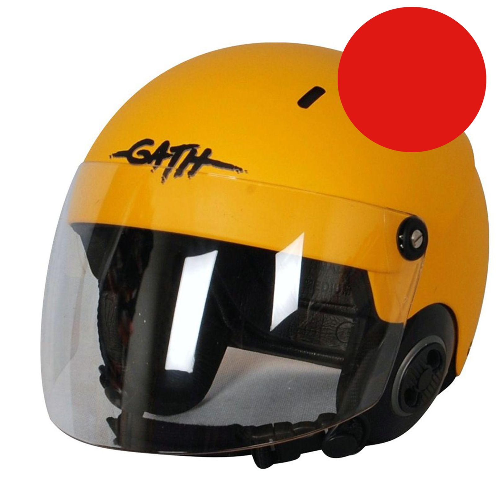 GATH Helm RESCUE Safety Rot matt Gr M mit klarem Vollvisier