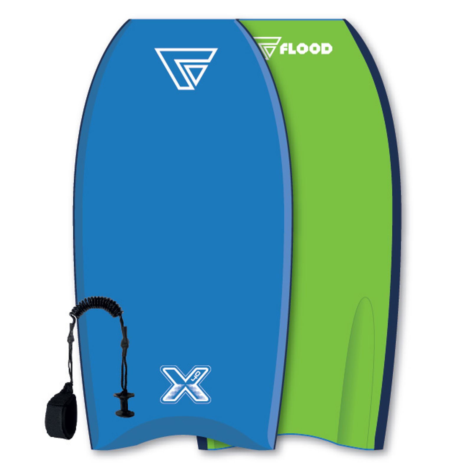 FLOOD Bodyboard Dynamx Stringer 42 Blau-Grün