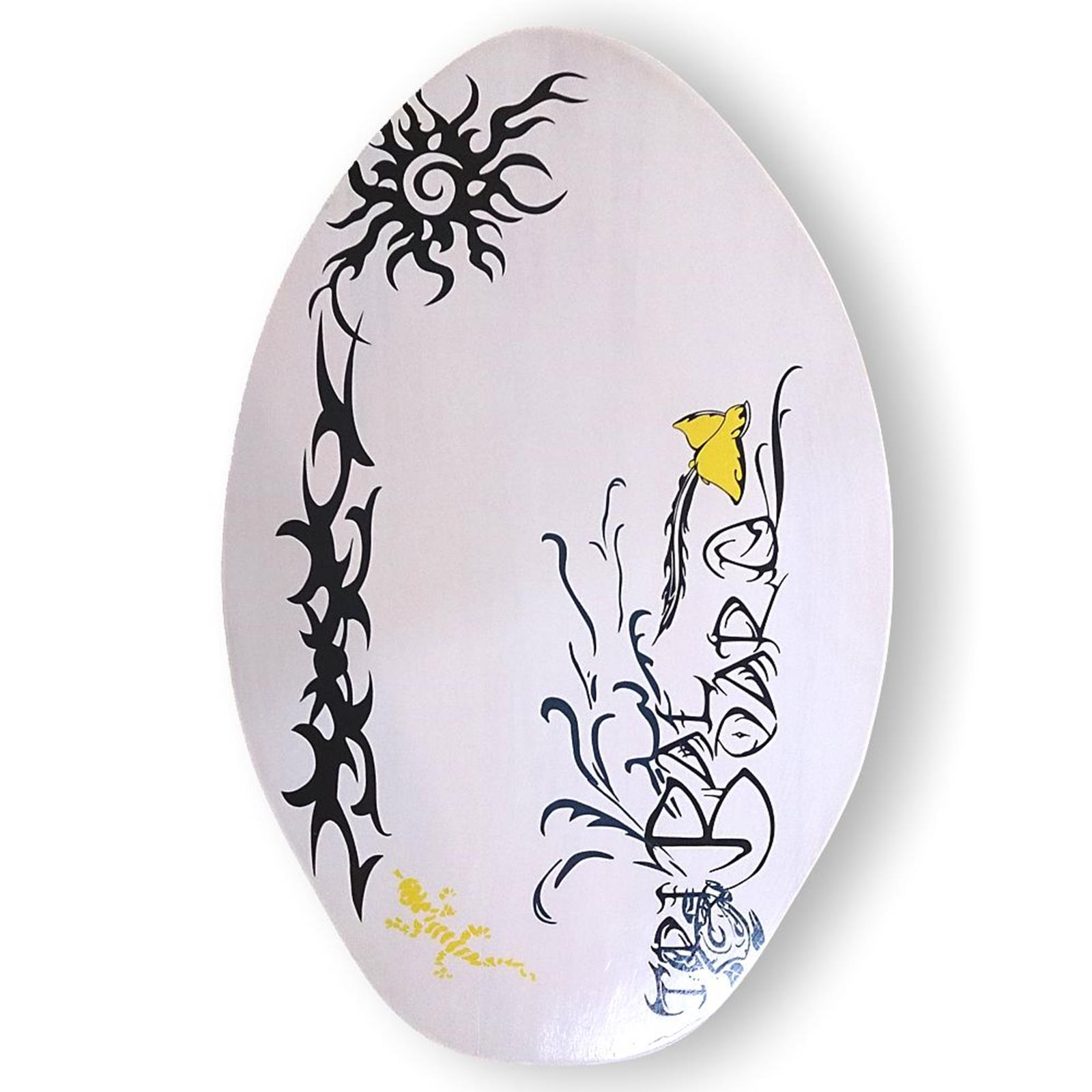 Skimboard BUGZ Wood 76 cm - 30 Inch Tribal White
