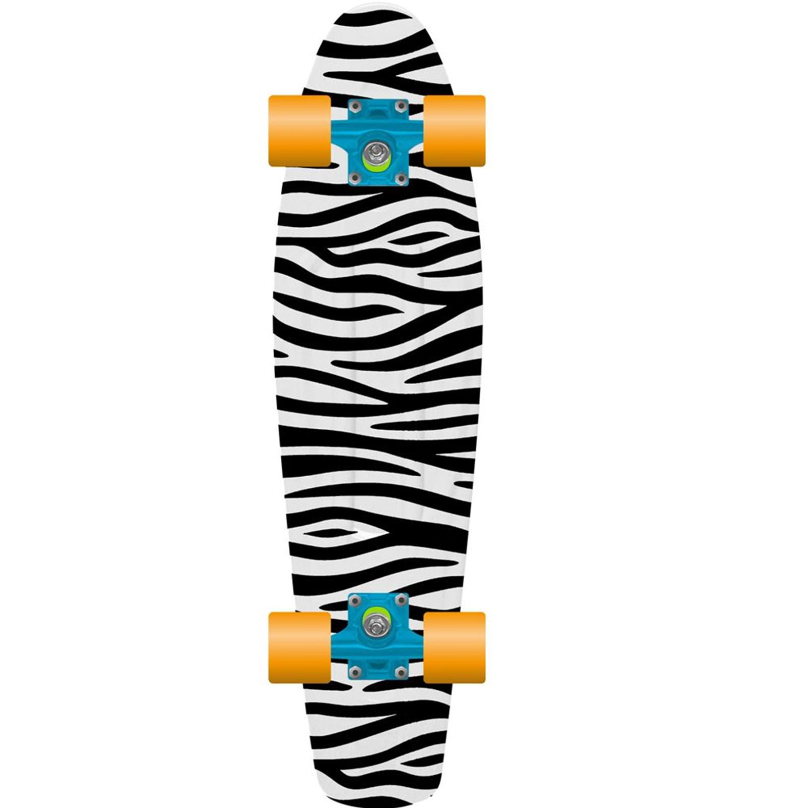 PROHIBITION Retro Plastic Skateboard 28 Zebra