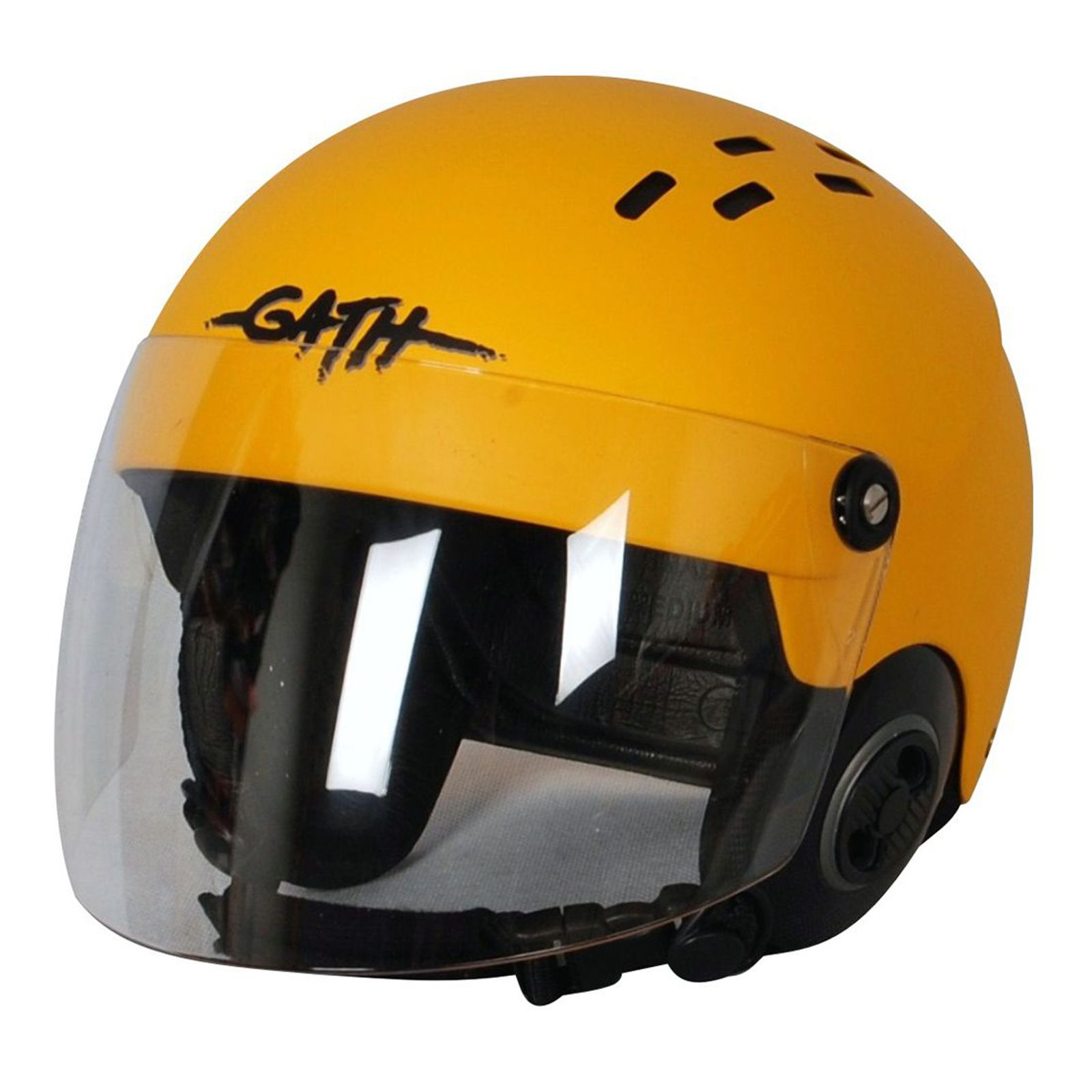 GATH Helm RESCUE Safety Gelb matt Gr M mit klarem Vollvisier