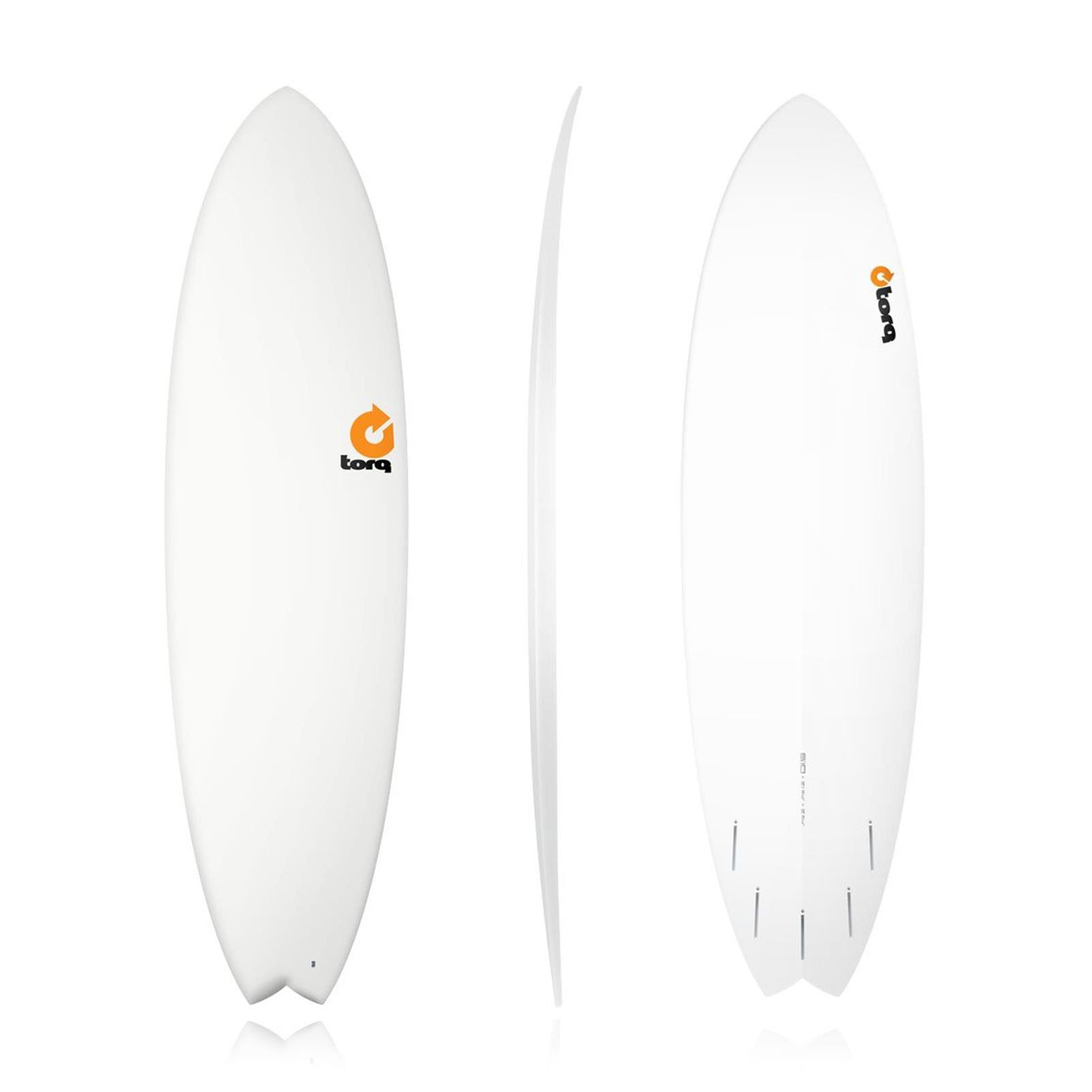 Surfboard TORQ Epoxy TET 6.10 Fish Weiss