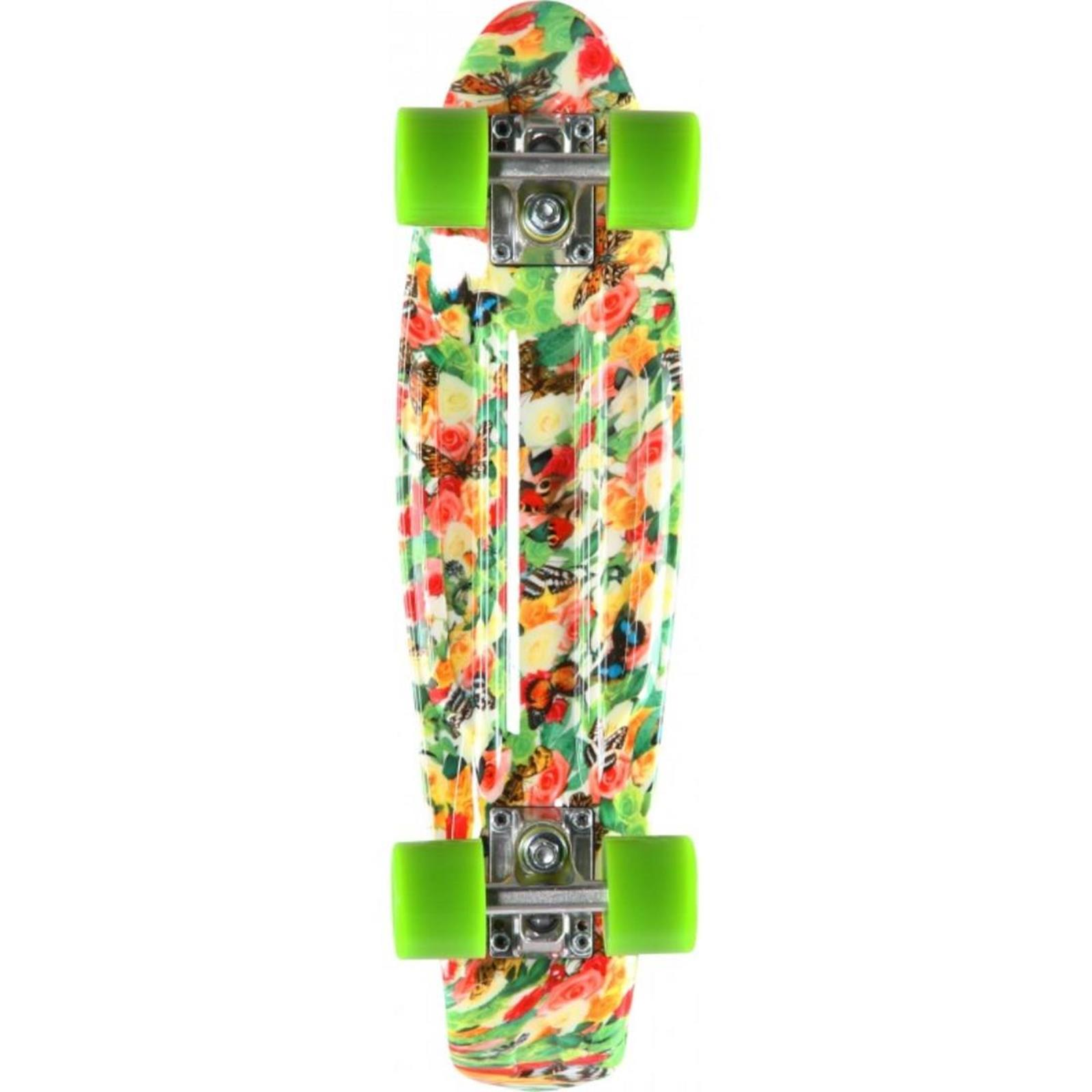 PROHIBITION Retro Plastic Skateboard 22.5 Floral