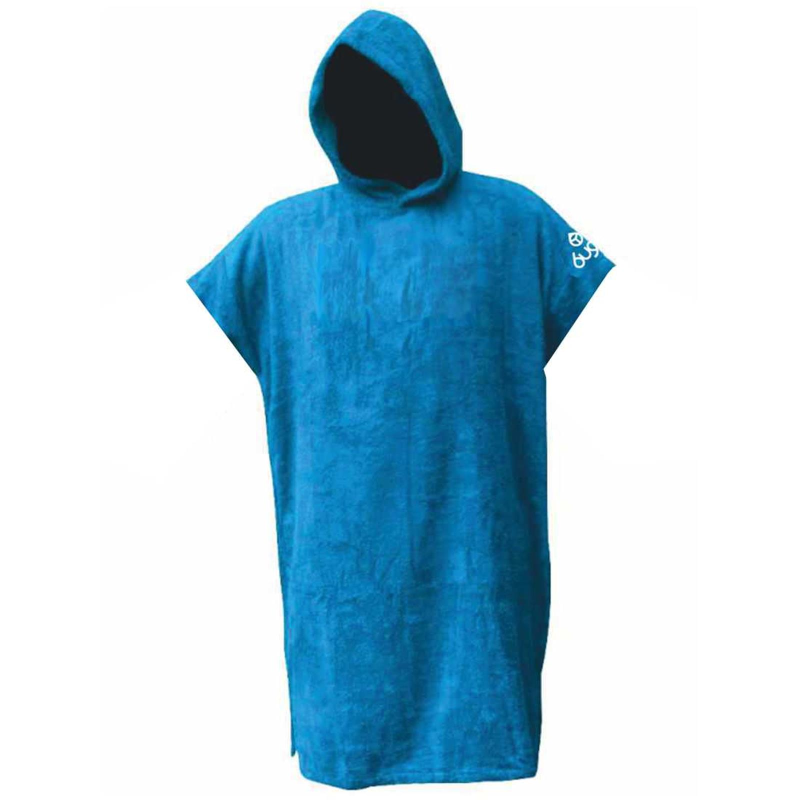 BUGZ Frottee Change Robe Surf Poncho Large Blau