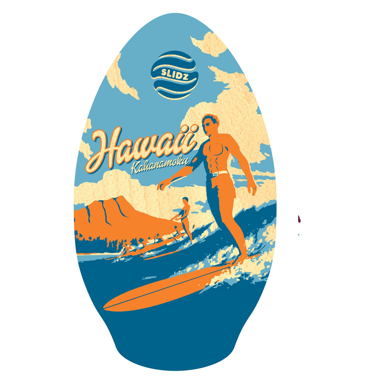 Skimboard SLIDZ 35  90cm Duke Blue Orange