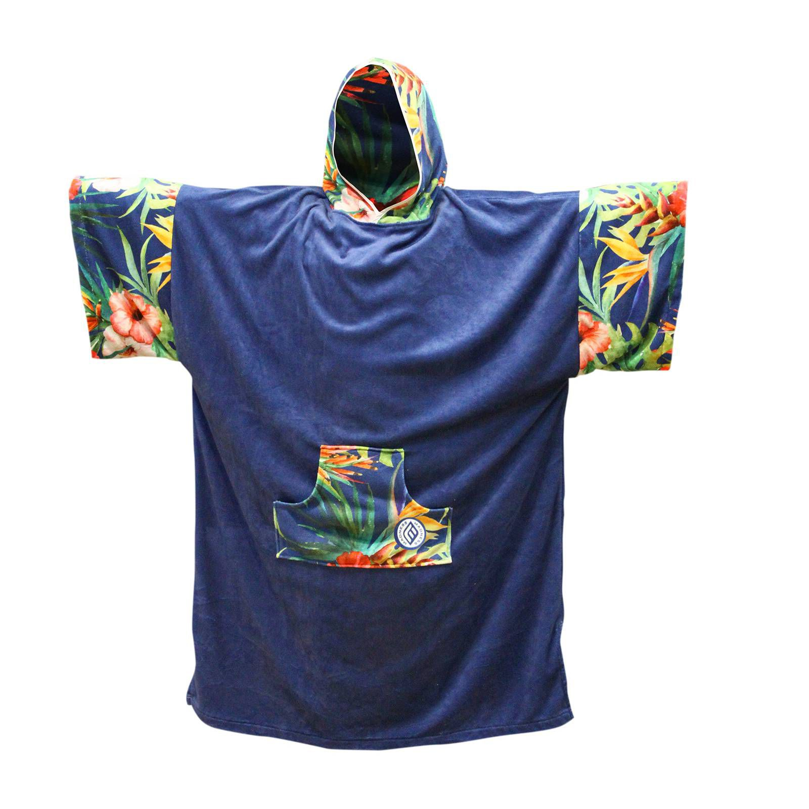 MADNESS Change Robe Poncho Unisize Navy-Flower