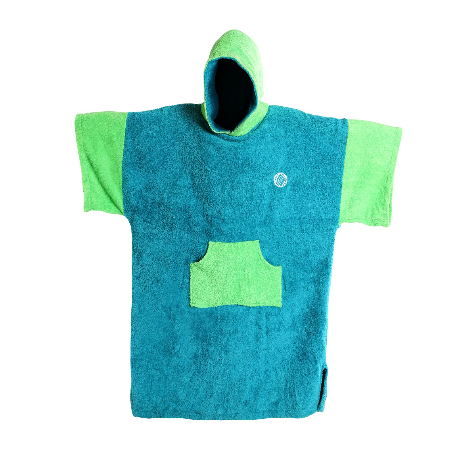 MADNESS Change Robe Poncho Unisize Teal-Lime