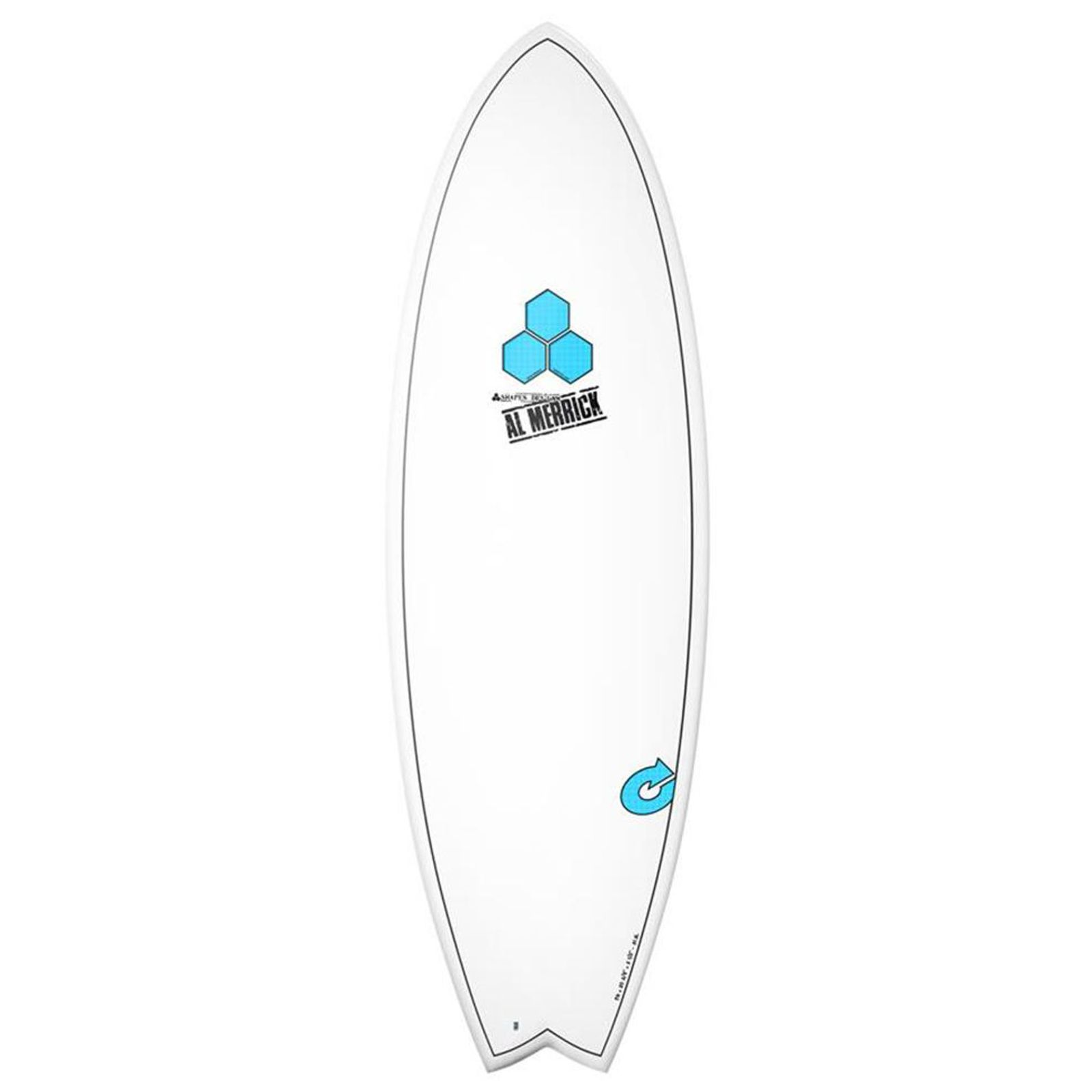 Surfboard CHANNEL ISLANDS X-lite Pod Mod 6.6 weiss