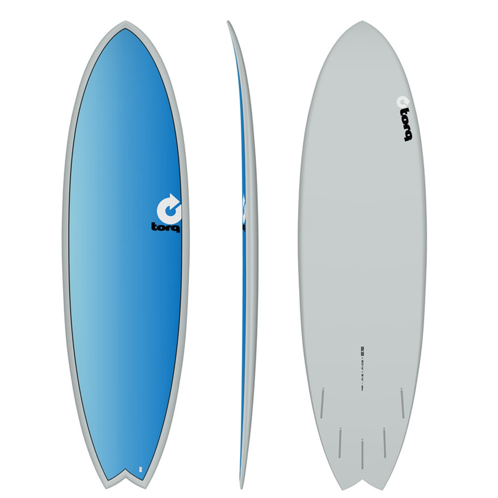 Surfboard TORQ Epoxy TET 6.3 Fish Full Fade