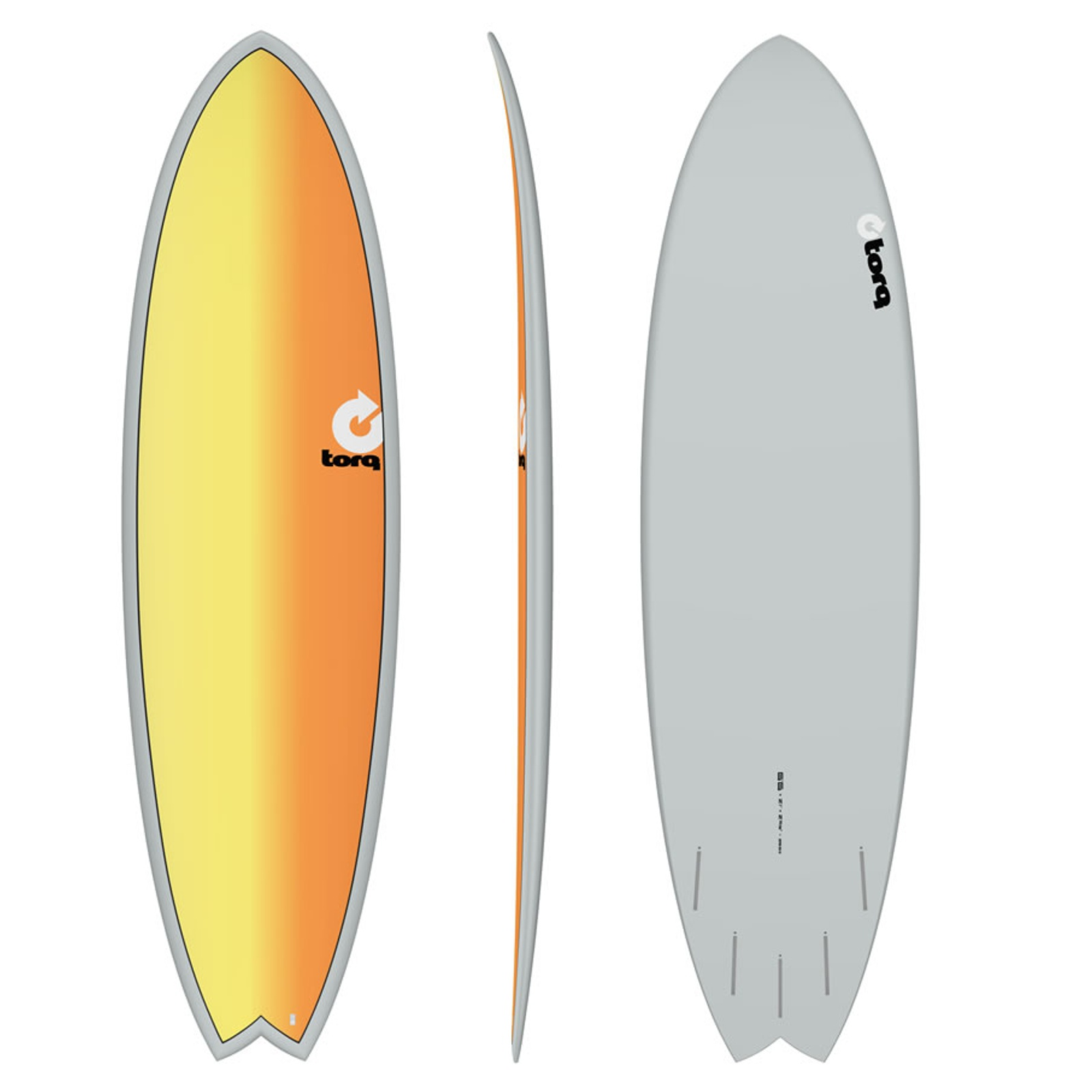 Surfboard TORQ Epoxy TET 6.6 Fish Full Fade