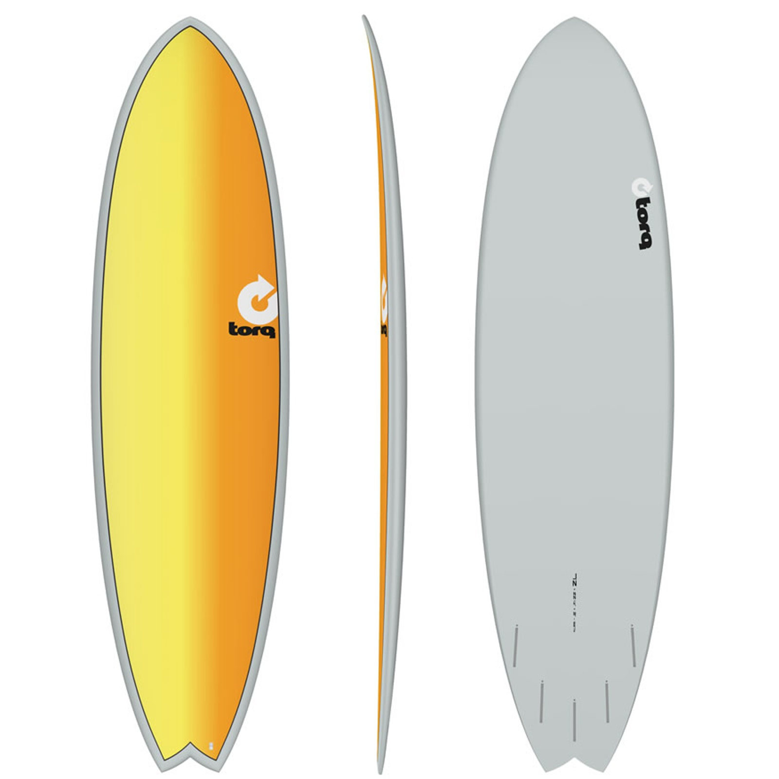Surfboard TORQ Epoxy TET 7.2 Fish Full Fade