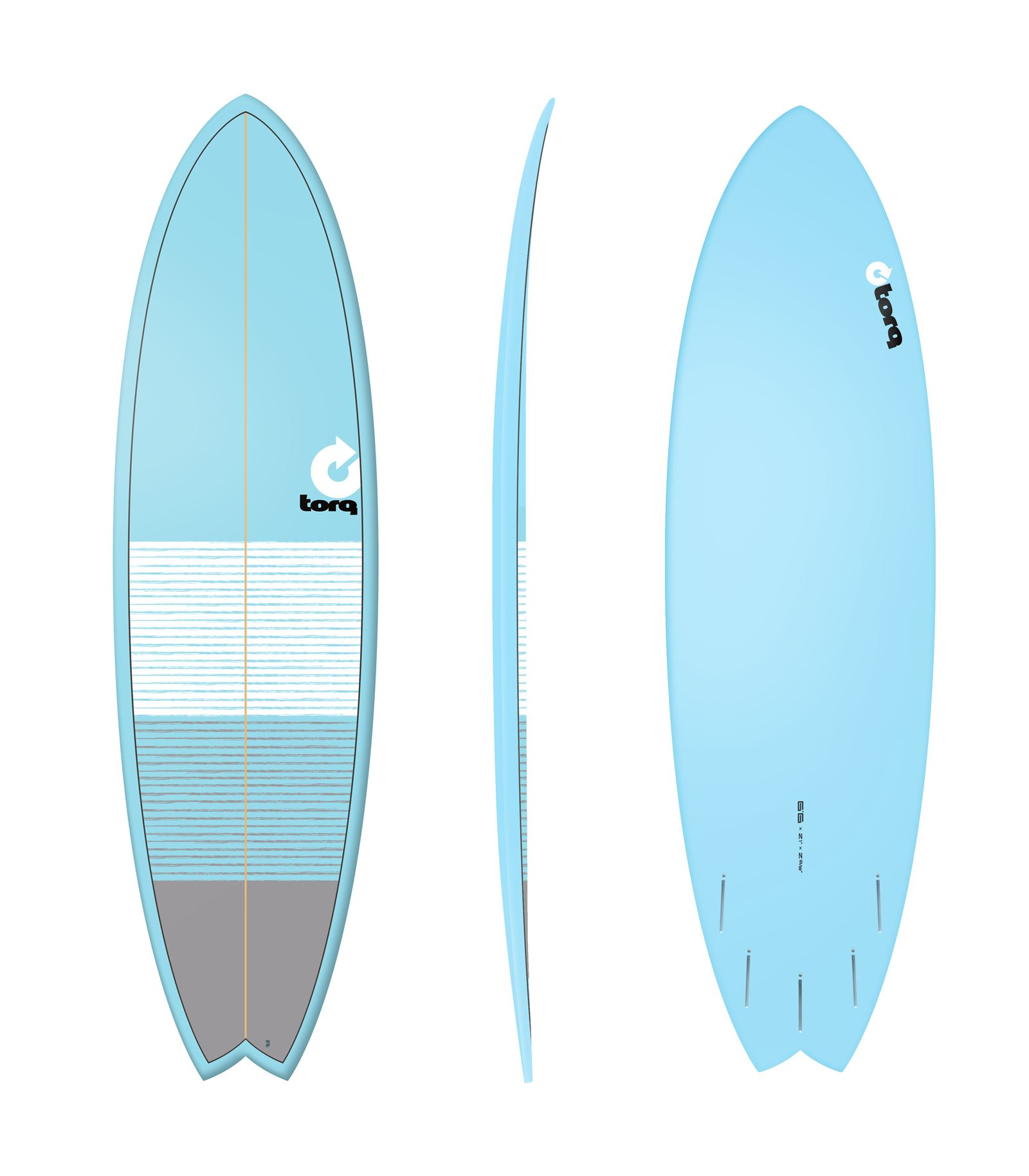 Surfboard TORQ Epoxy TET 6.6 Fish Lines