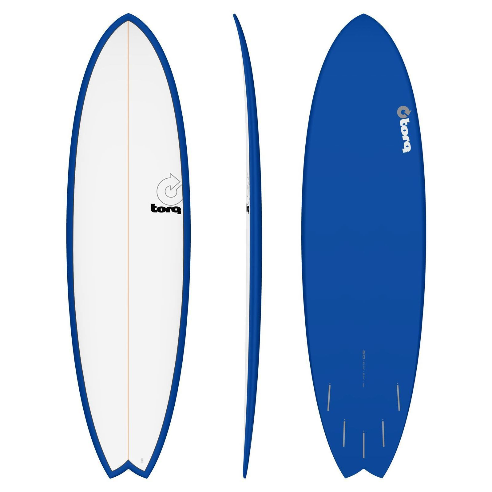 Surfboard TORQ Epoxy TET 6.10 Fish White Navy
