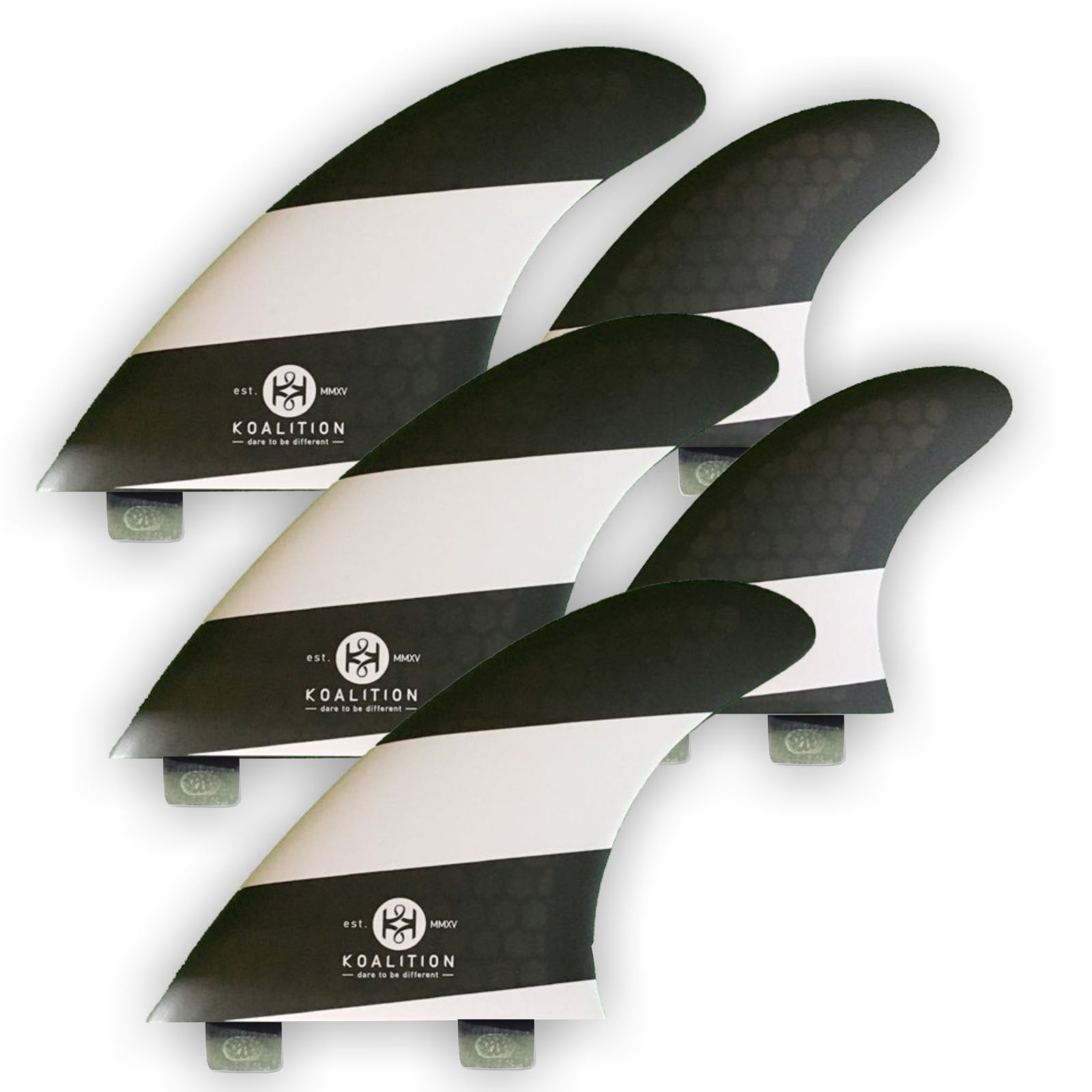 KOALITION Surfboard Finnen Quad-Thrust L FCS