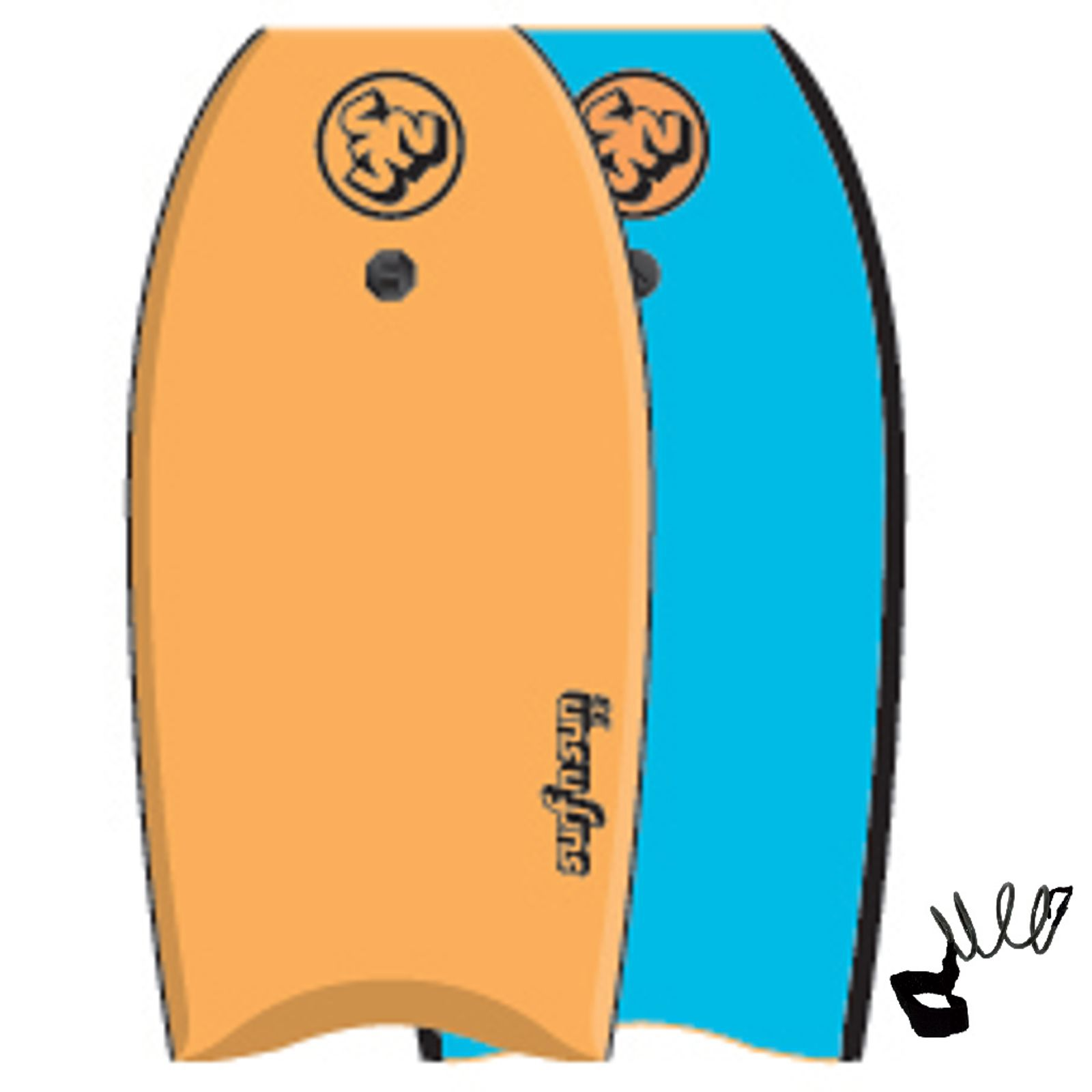 SurfnSun Bodyboard Similar 39 Orange Blau