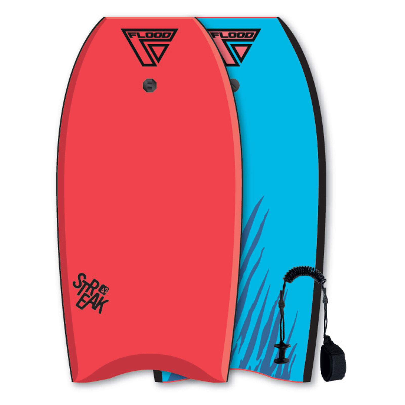 FLOOD Bodyboard Streak 42 Rot-Blau tiger