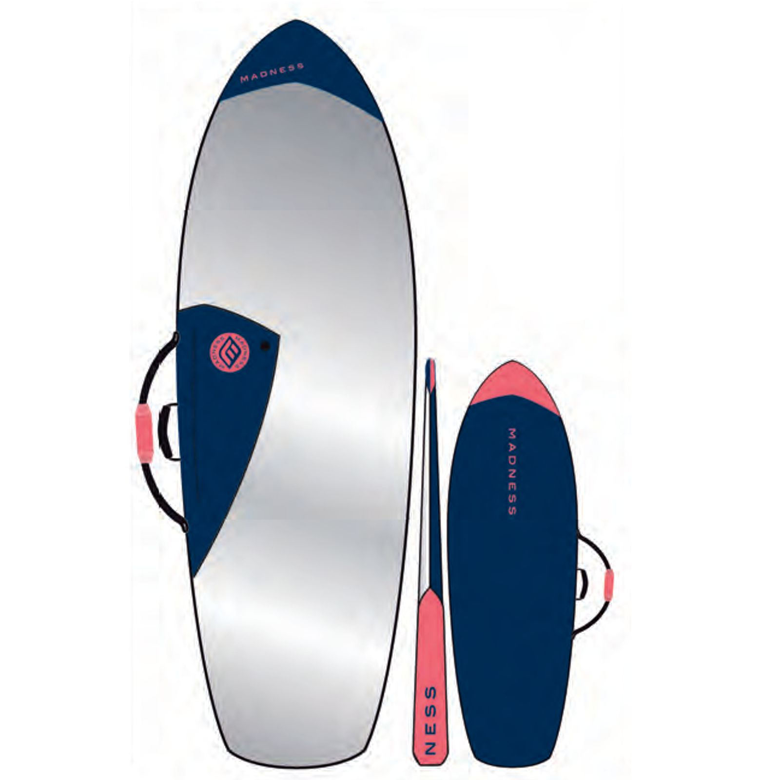 MADNESS Boardbag PE 6.6 Fish Blau Rot