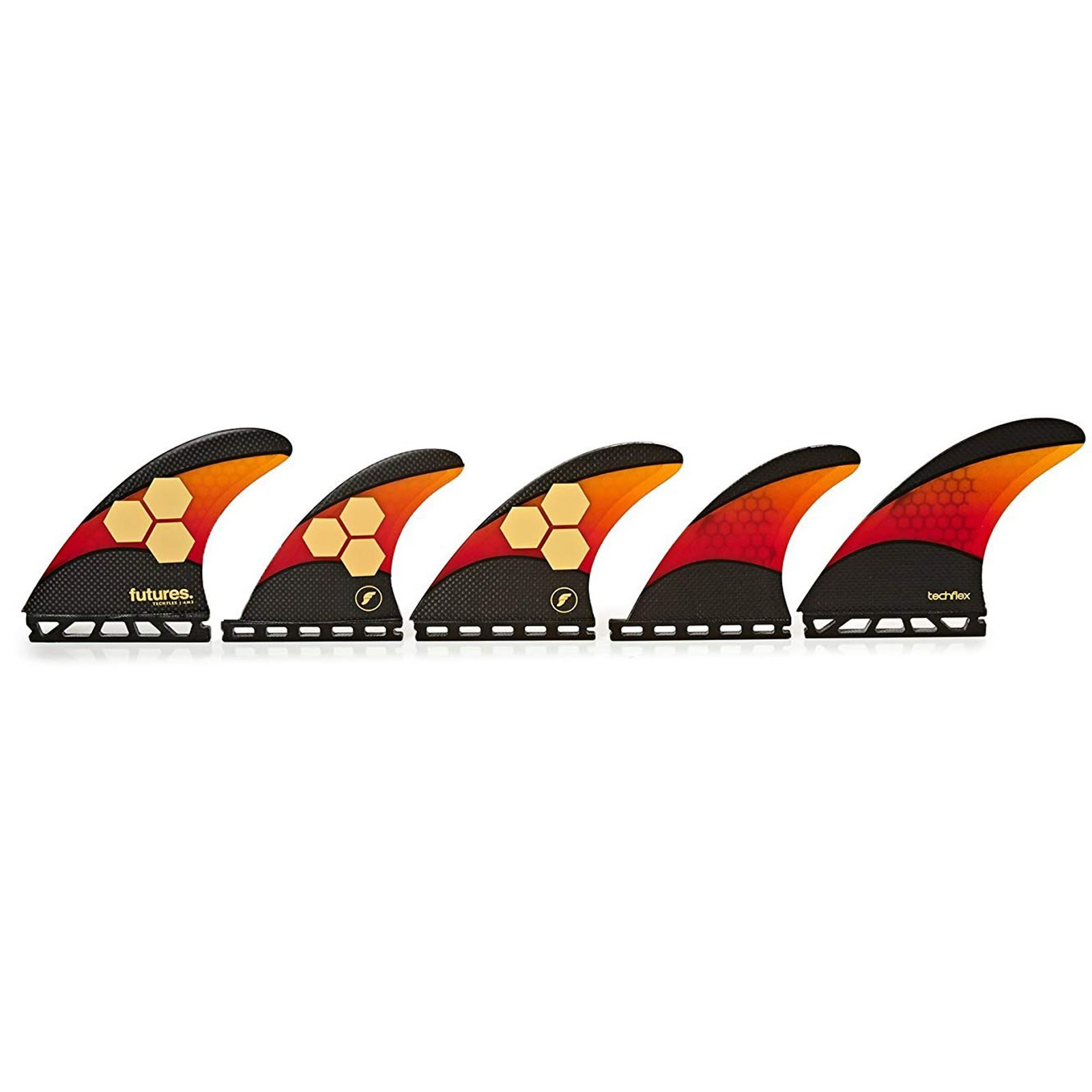 FUTURES Quad Thruster 5 Fin Set AM2 Techflex
