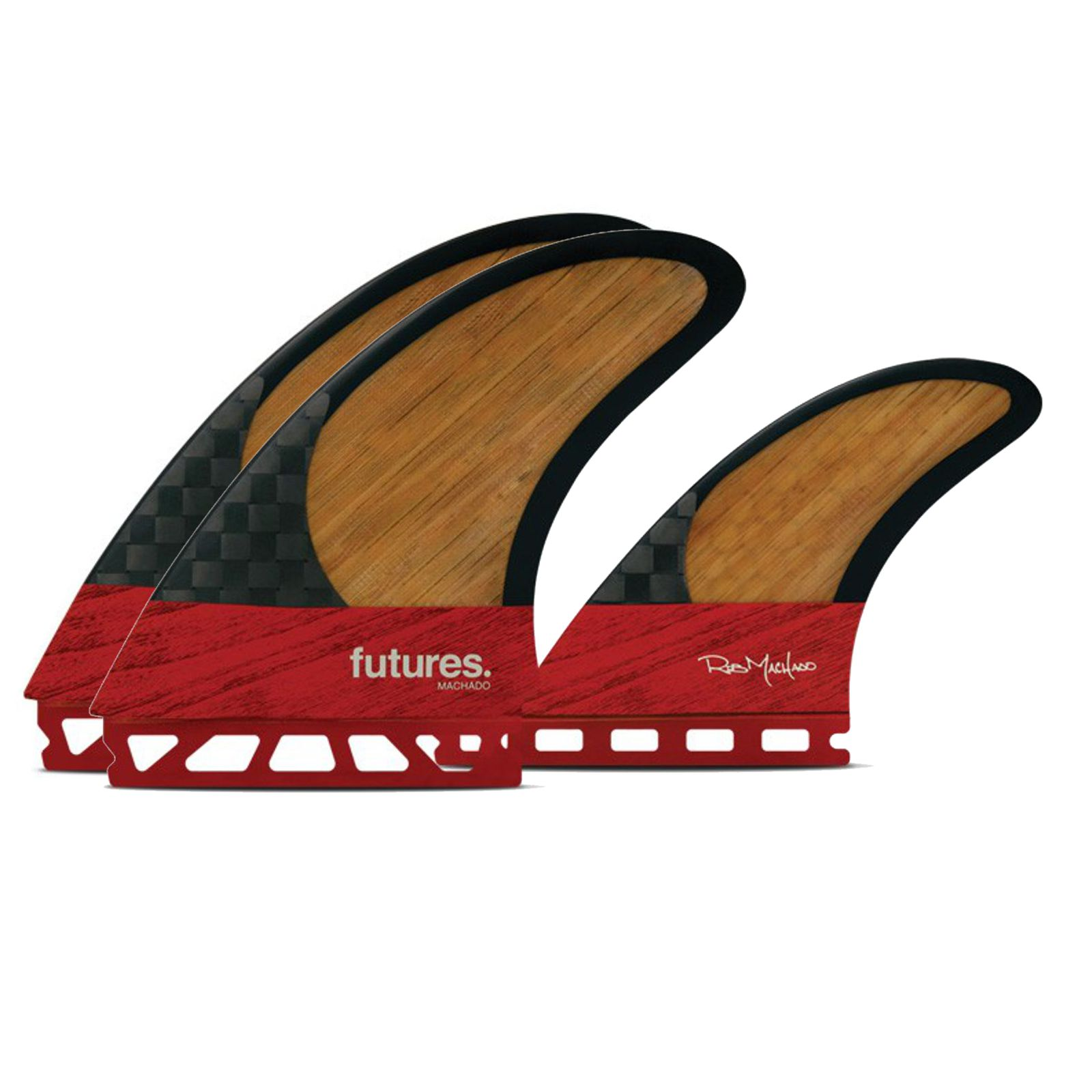 FUTURES Twin Fin Set Machado Blackstix