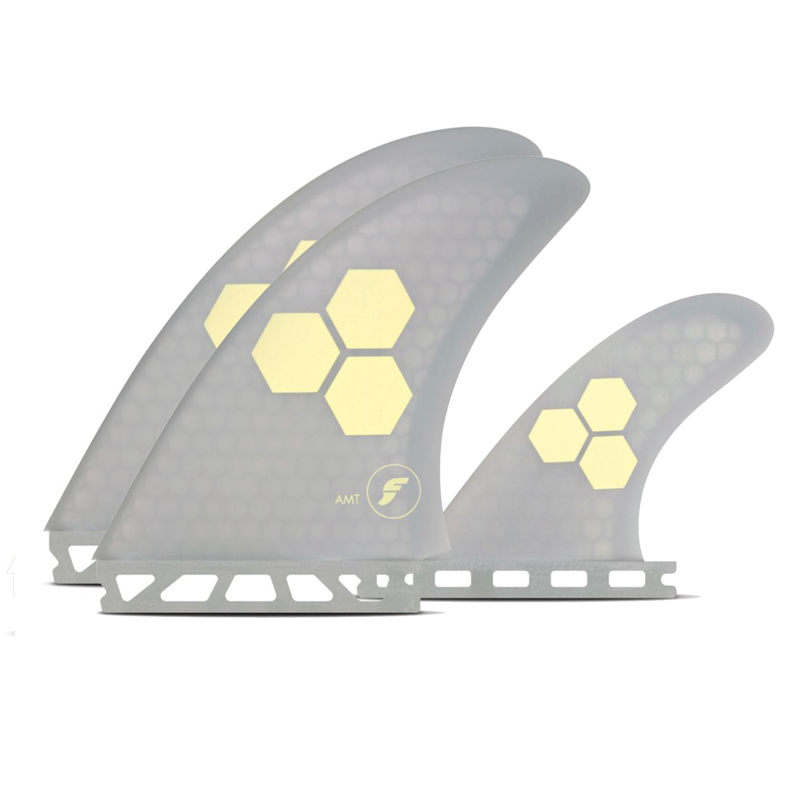 FUTURES Twin Fin Set Channel Islands AMT Honeycomb