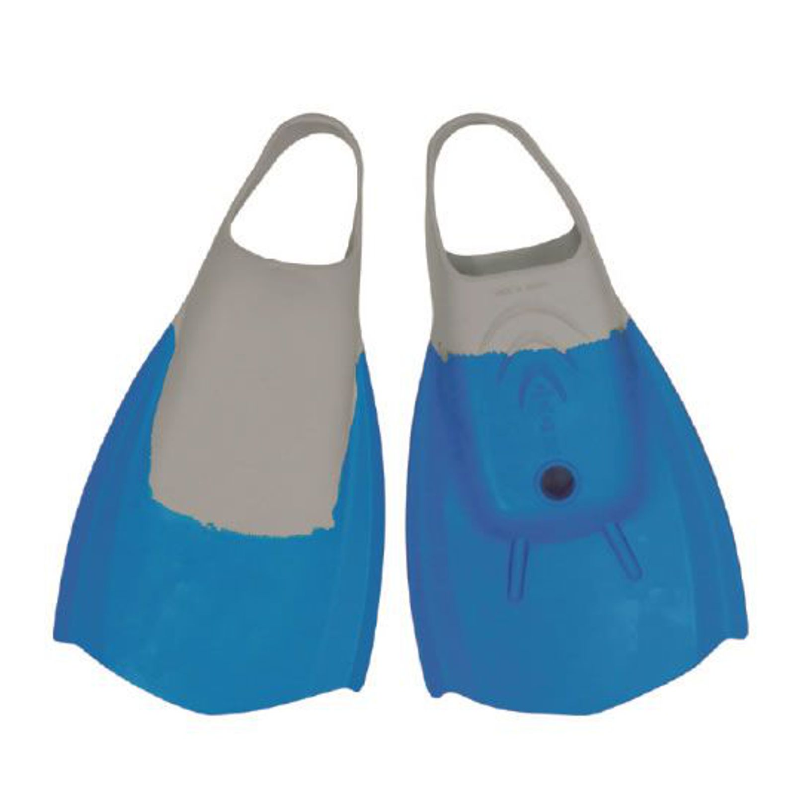 WAVE POWER Bodyboard Flossen L 40-42 Blau Grau