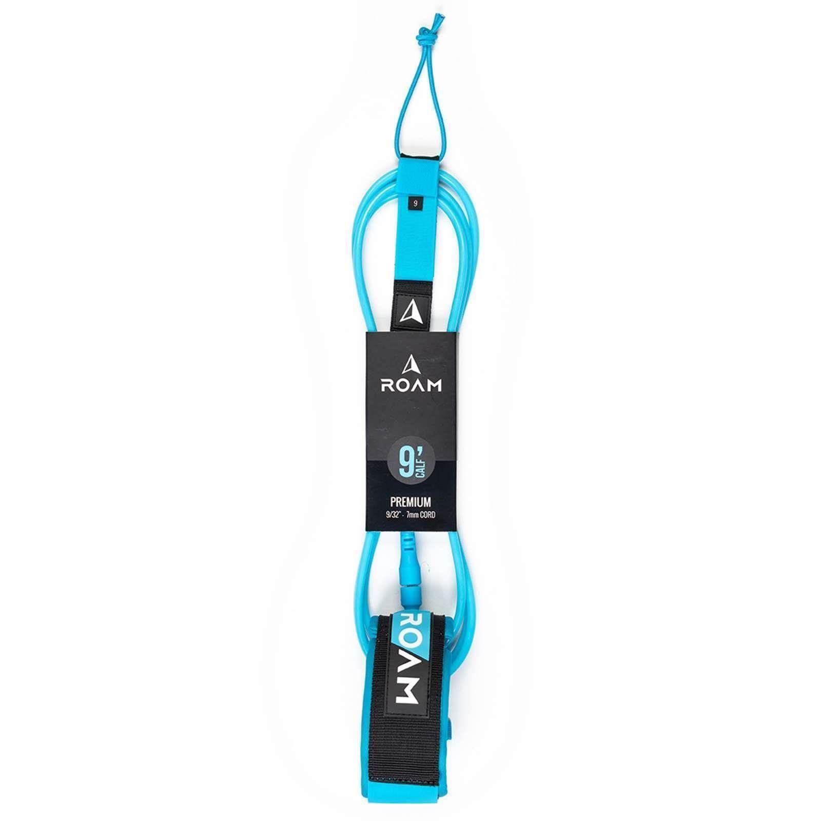 ROAM Surfboard Leash Premium 9.0 Knie 7mm Blau