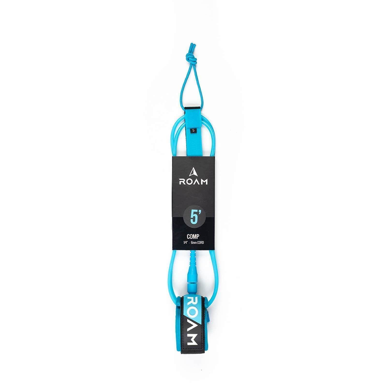ROAM Surfboard Leash Comp 5.0 152cm 6mm Blau