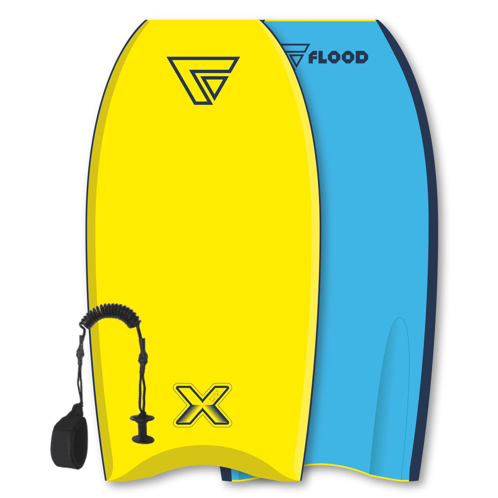 FLOOD Bodyboard Dynamx Stringer 37 Gelb Blau