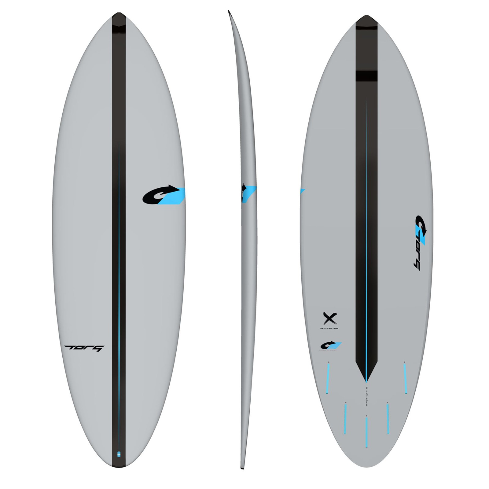 Surfboard TORQ ACT Prepreg Multiplier 6.4 Grau