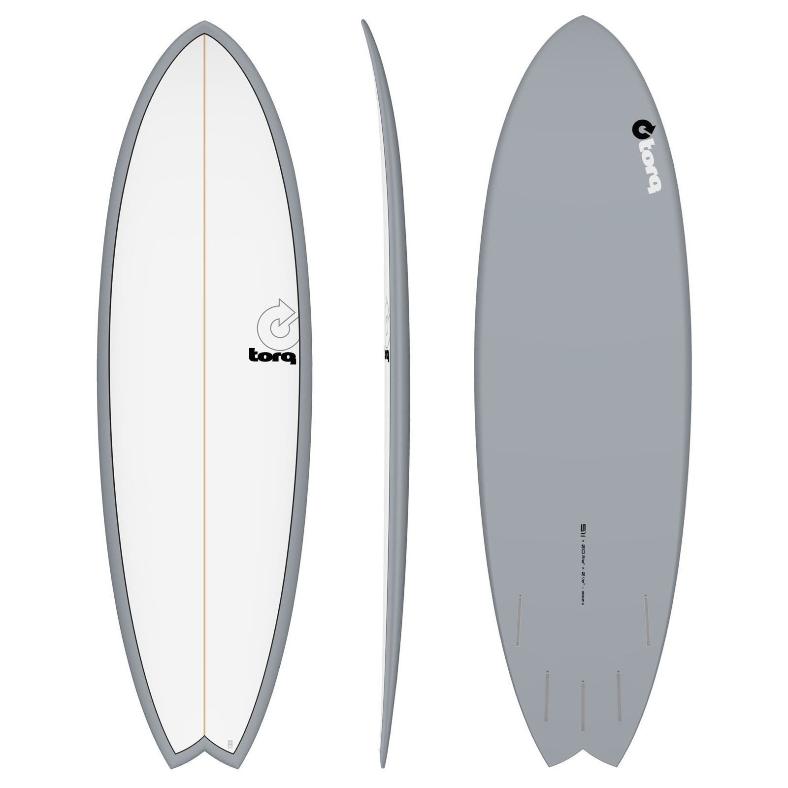 Surfboard TORQ Epoxy TET 5.11 Fish white Gray