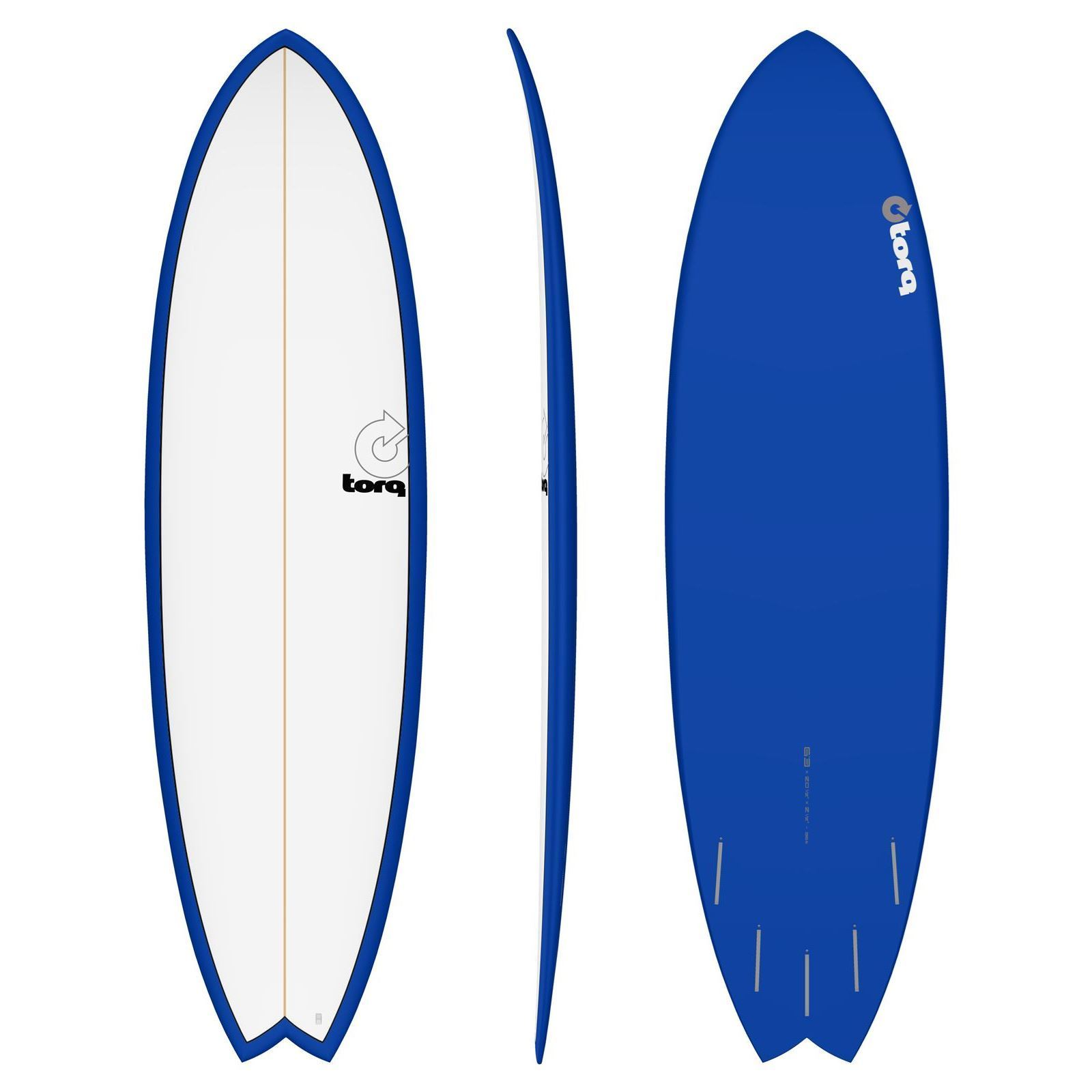 Surfboard TORQ Epoxy TET 6.3 Fish White Navy