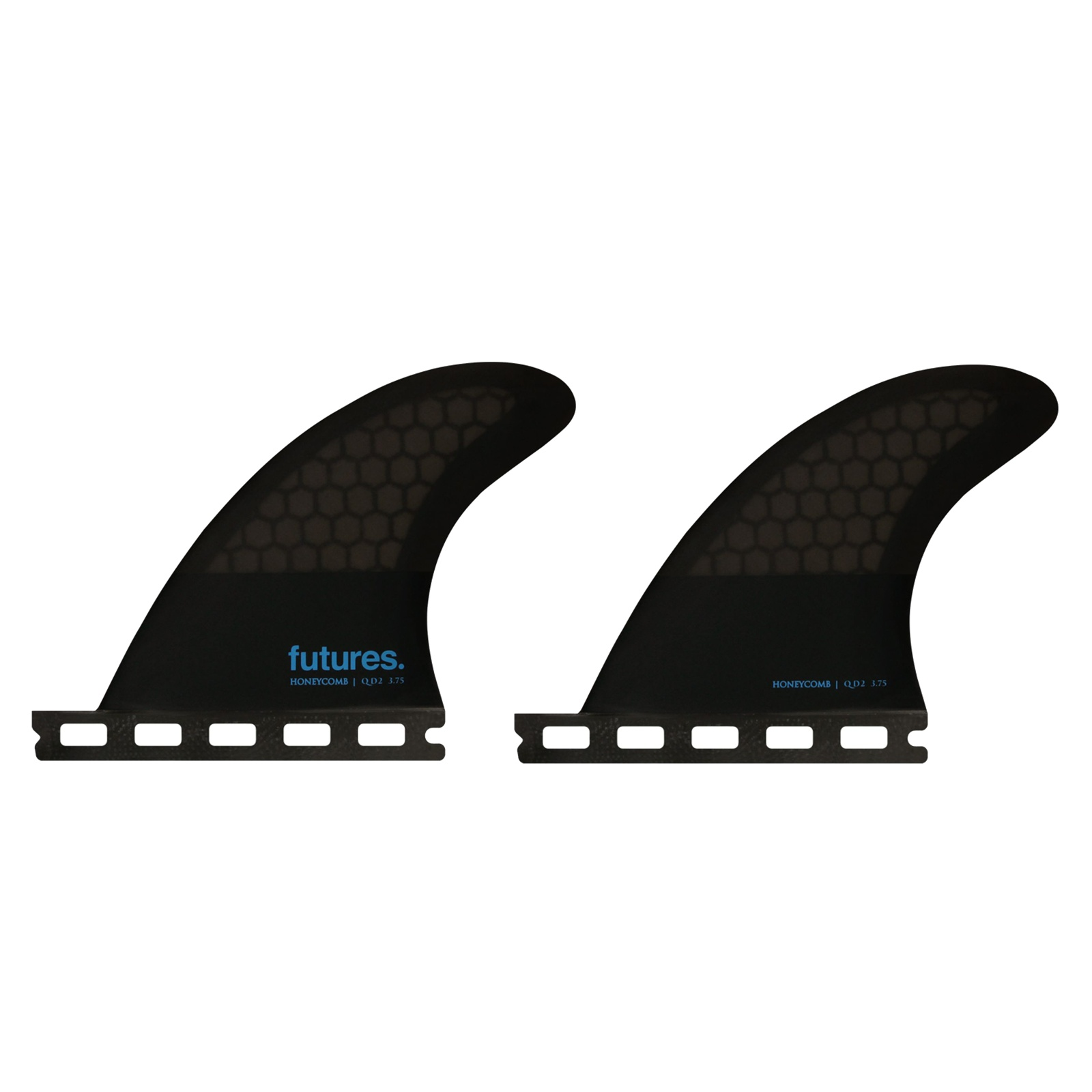 FUTURES Quad Fin Set QD2 3.75 Flat Honeycomb