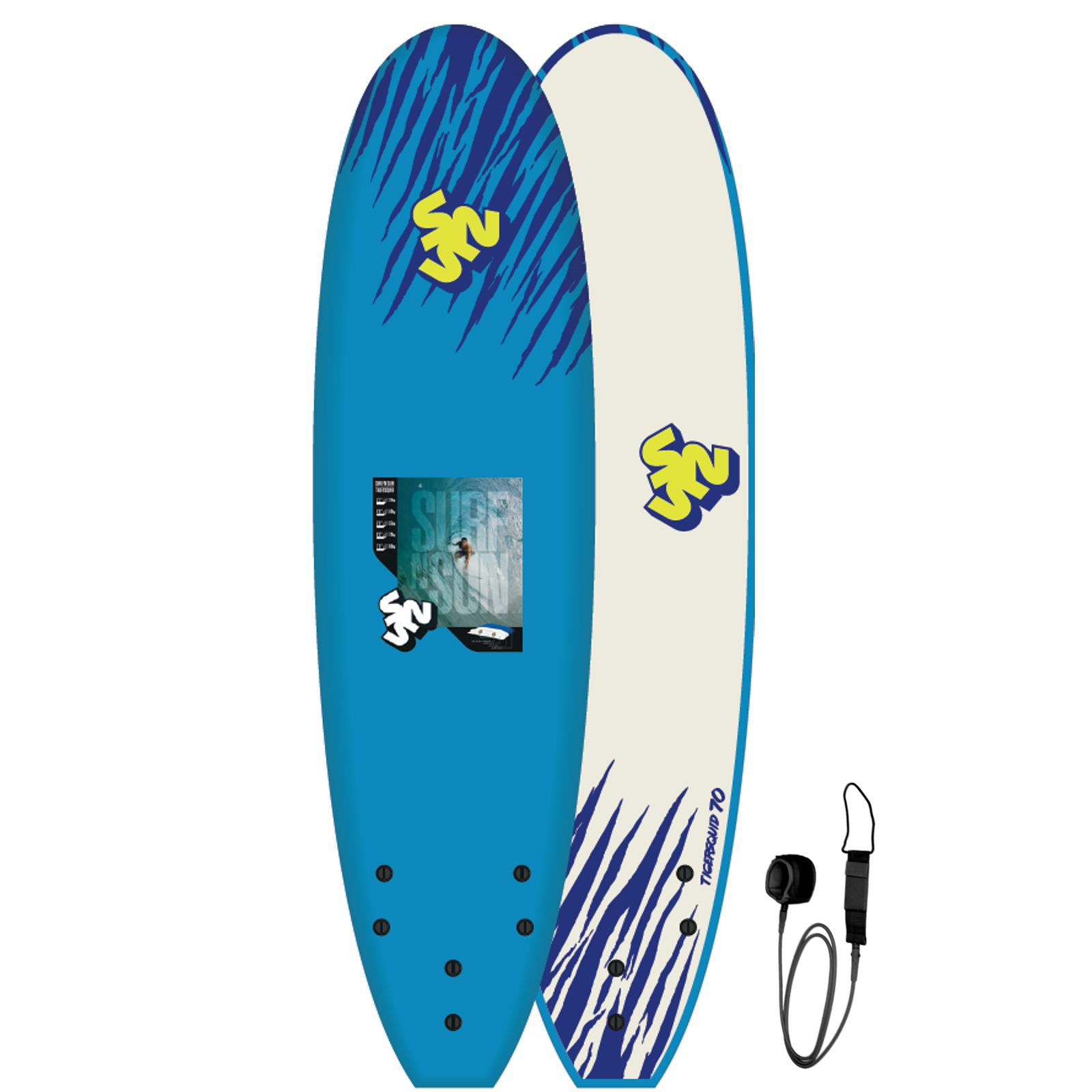 SurfnSun Surfboard Softboard EPS Tigersquid 7.0