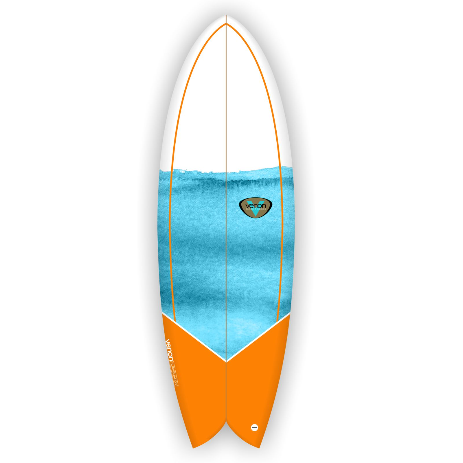 Surfboard VENON Node 5.11 Twinfin Retro Fish