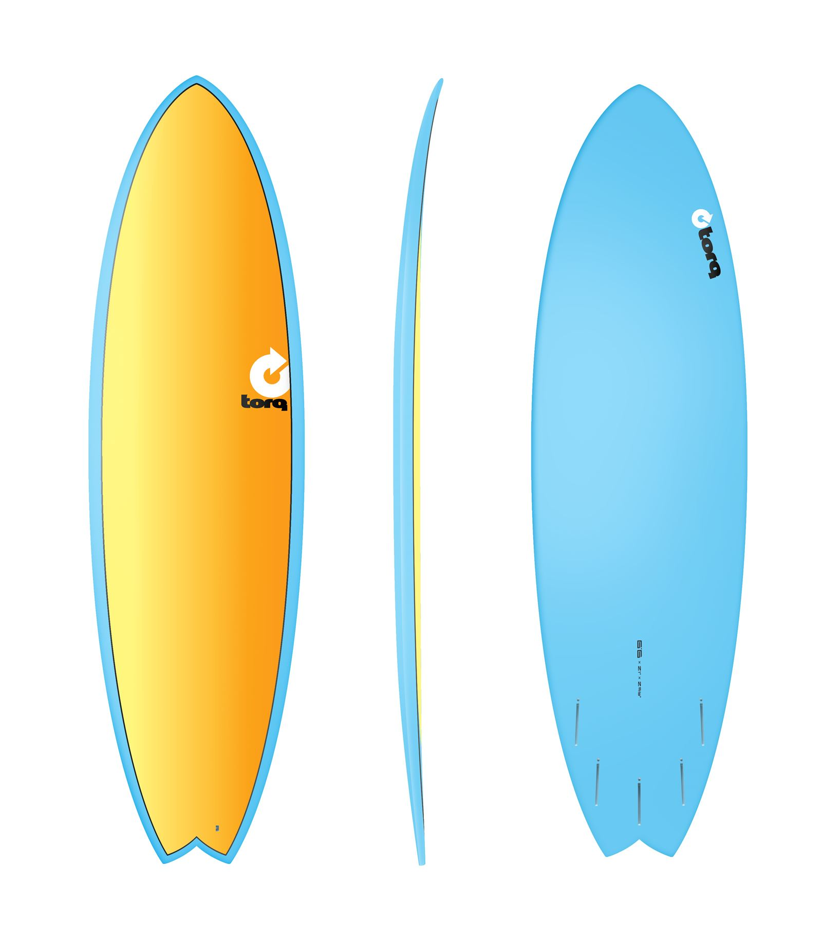 Surfboard TORQ Epoxy TET 6.6 Fish Full Fade C