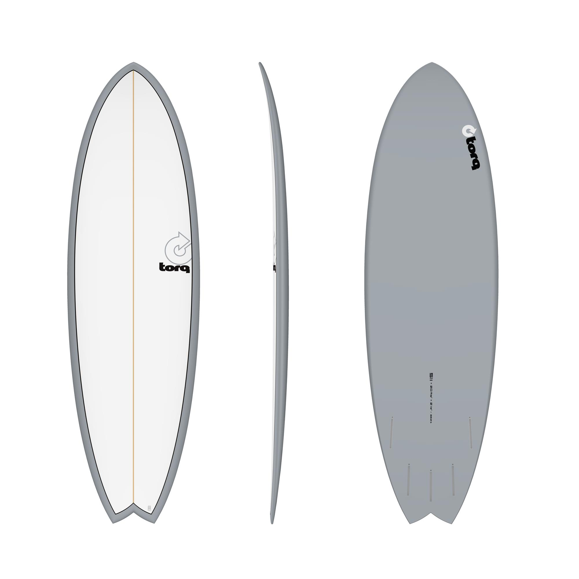 Surfboard TORQ Epoxy TET 5.11 Fish gray pinline