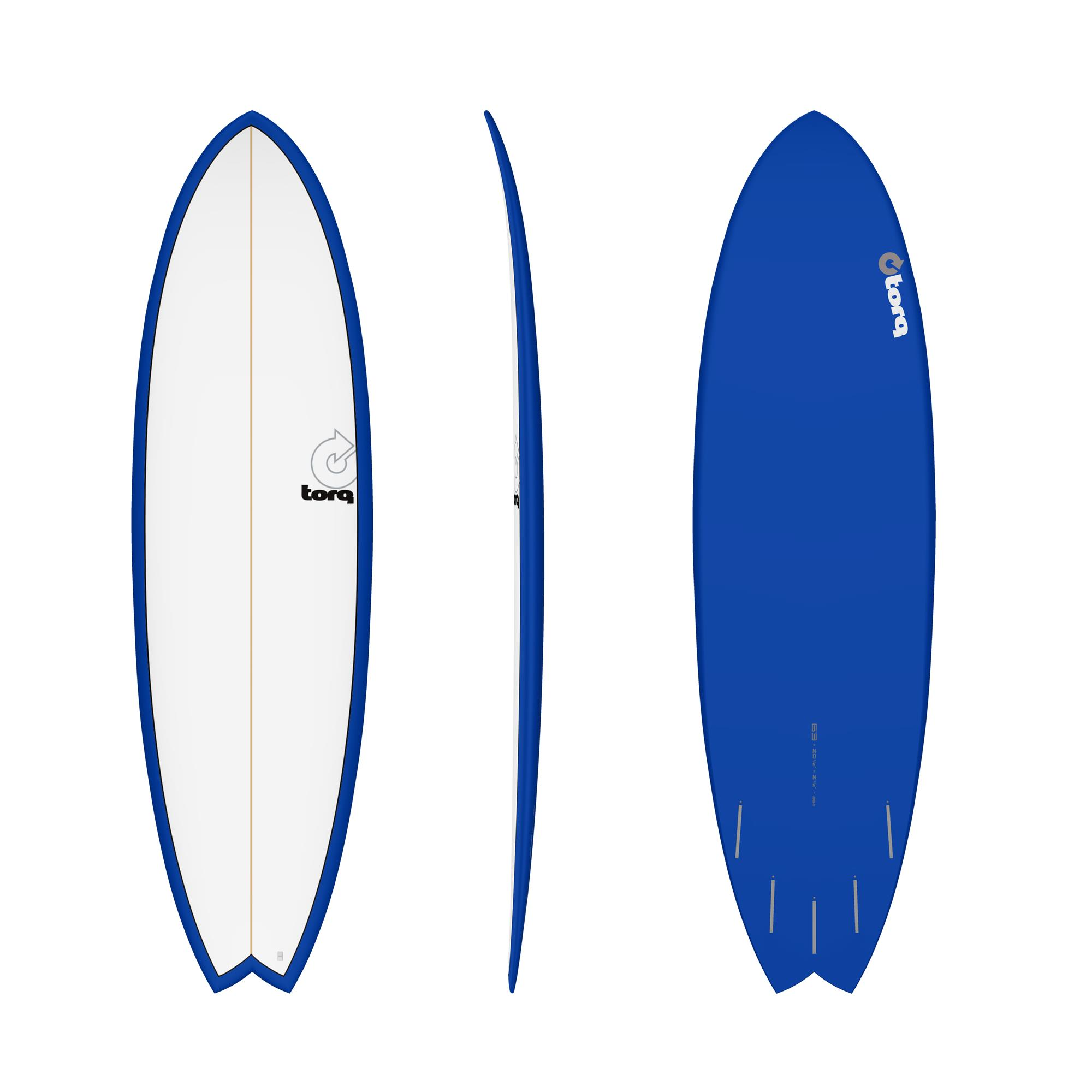 Surfboard TORQ Epoxy TET 6.3 Fish Navy Pinline