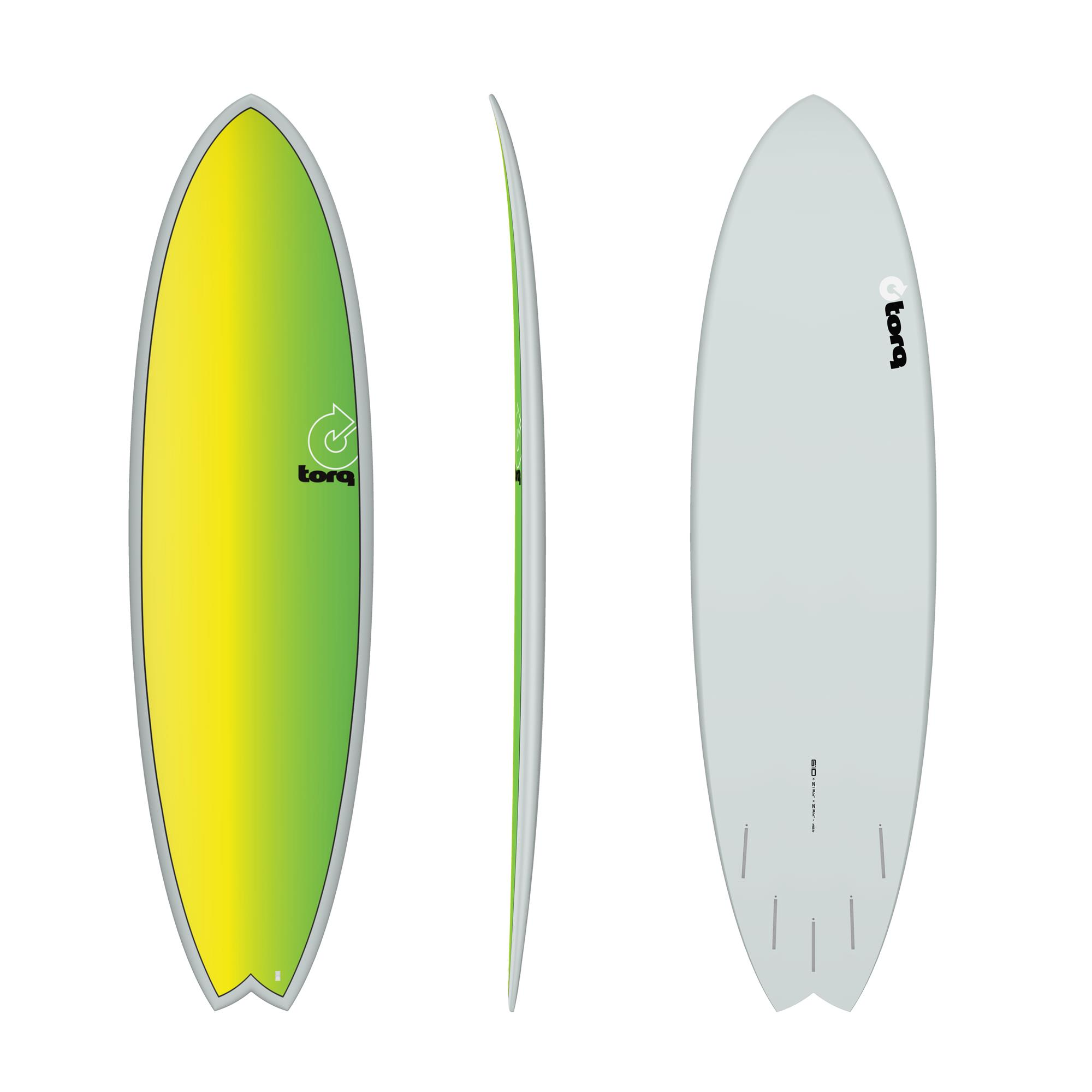 Surfboard TORQ Epoxy TET 6.10 Fish Full Fade