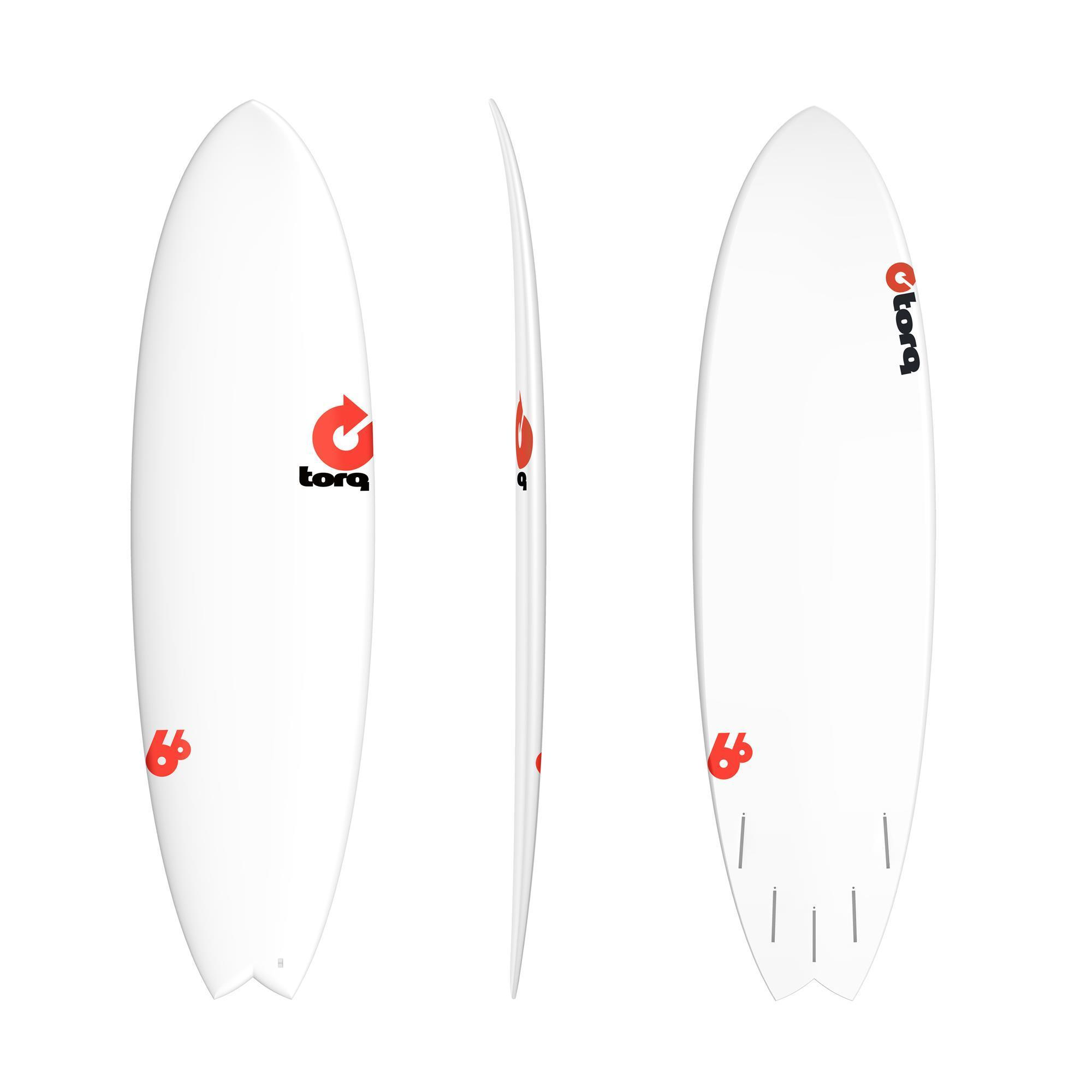 Surfboard TORQ Epoxy TET 6.6 Fish RENTAL