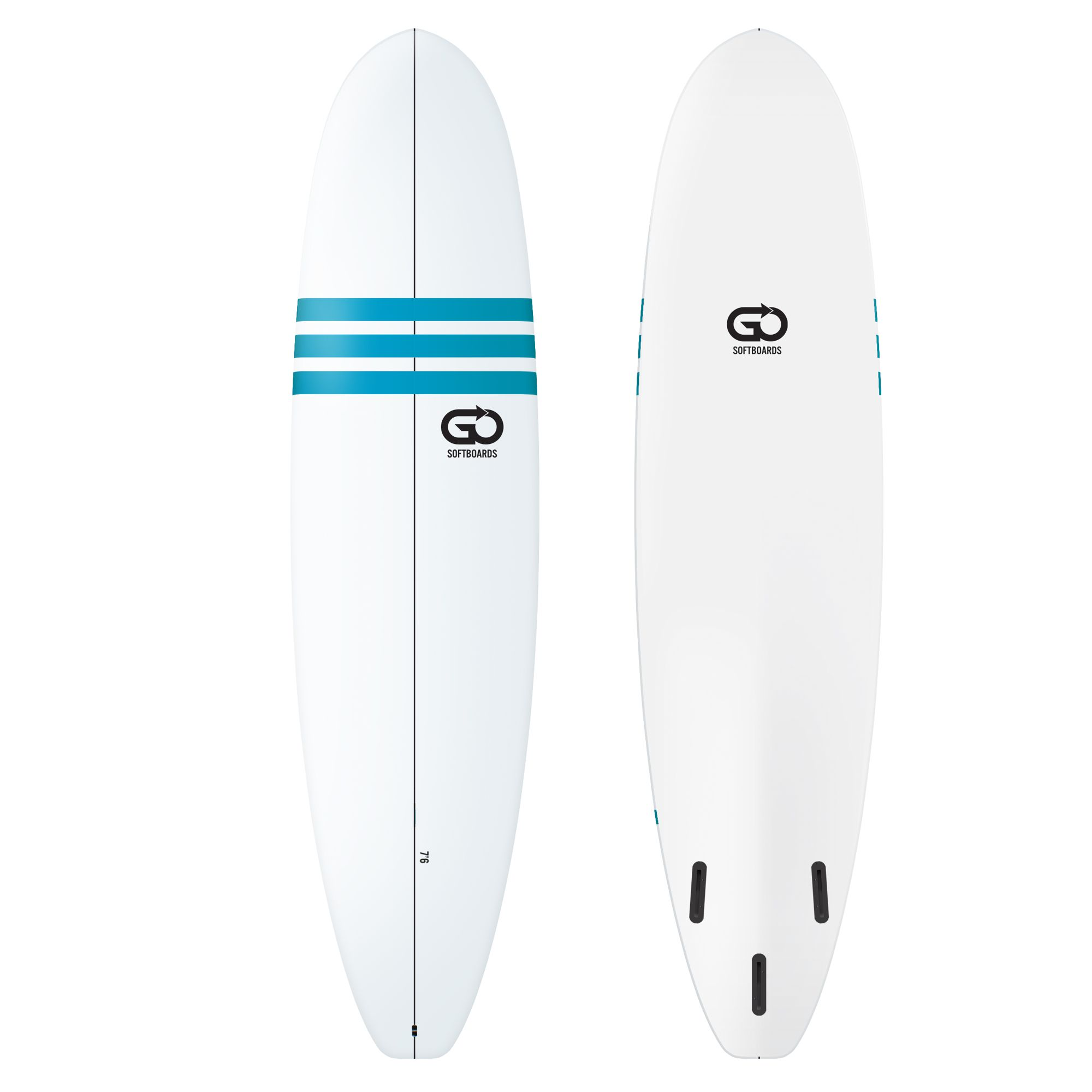 GO Softboard 7.6 Soft Top Surfboard