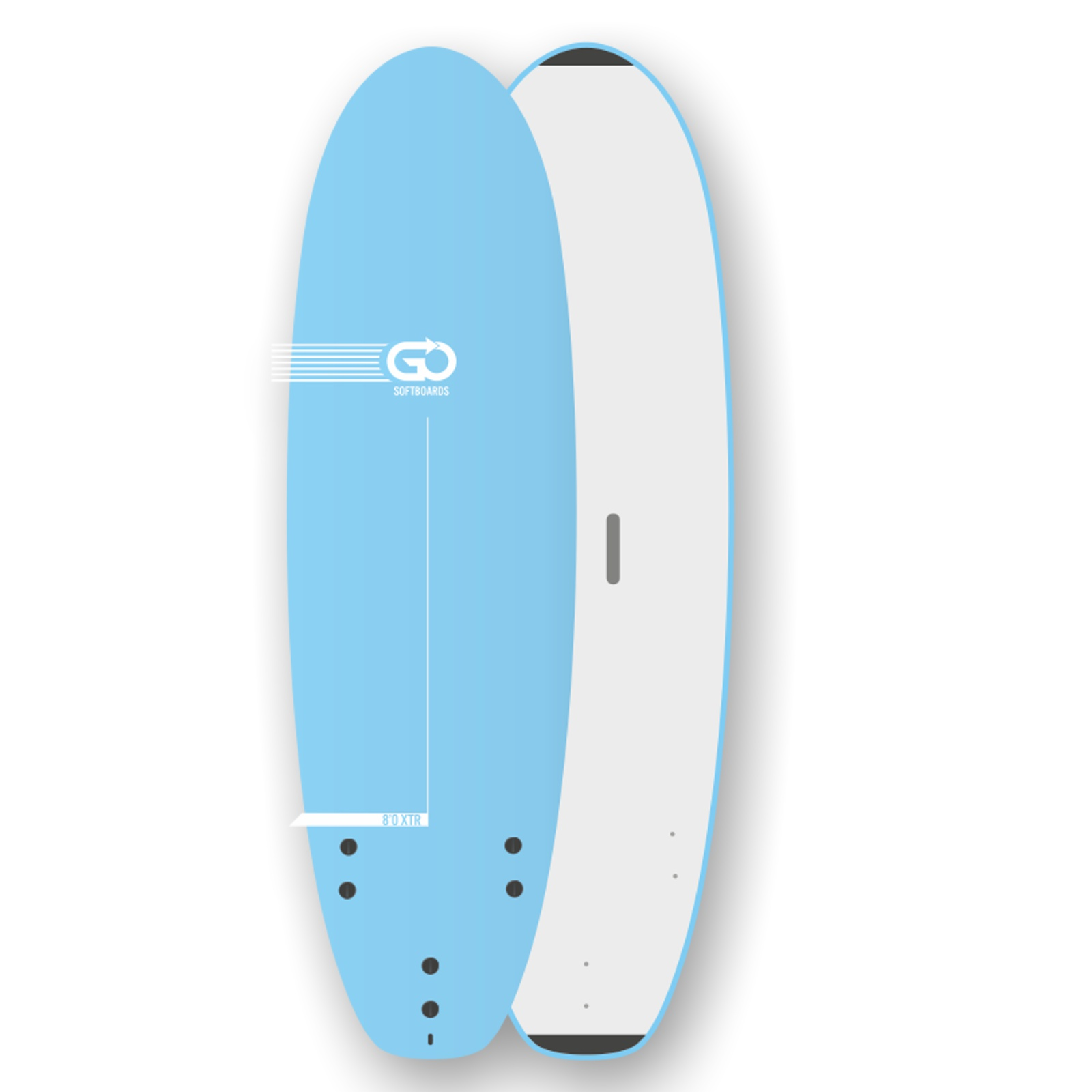 GO Softboard School Surfboard 8.0 XTR wide body