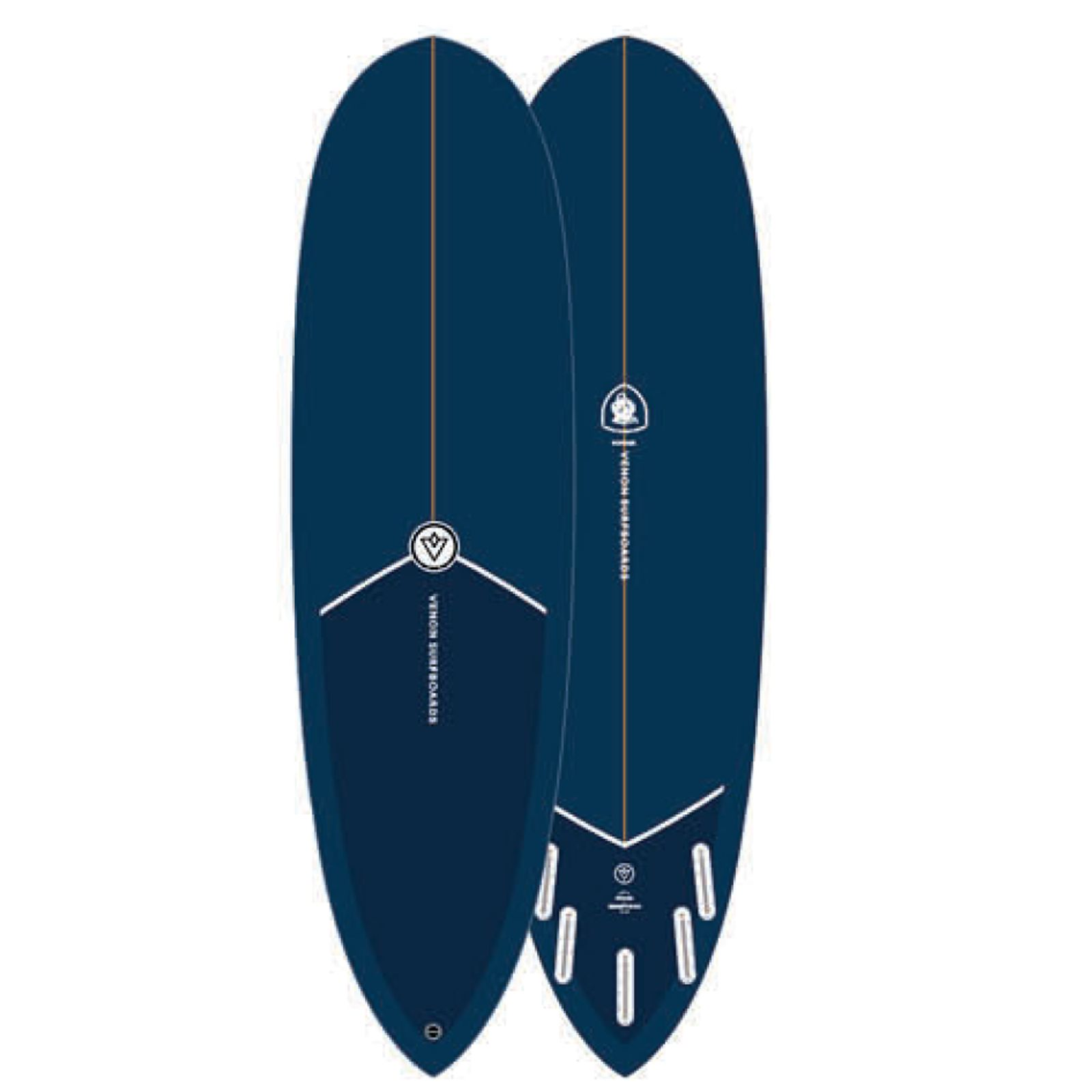Surfboard VENON Gopher 7.0 Navy