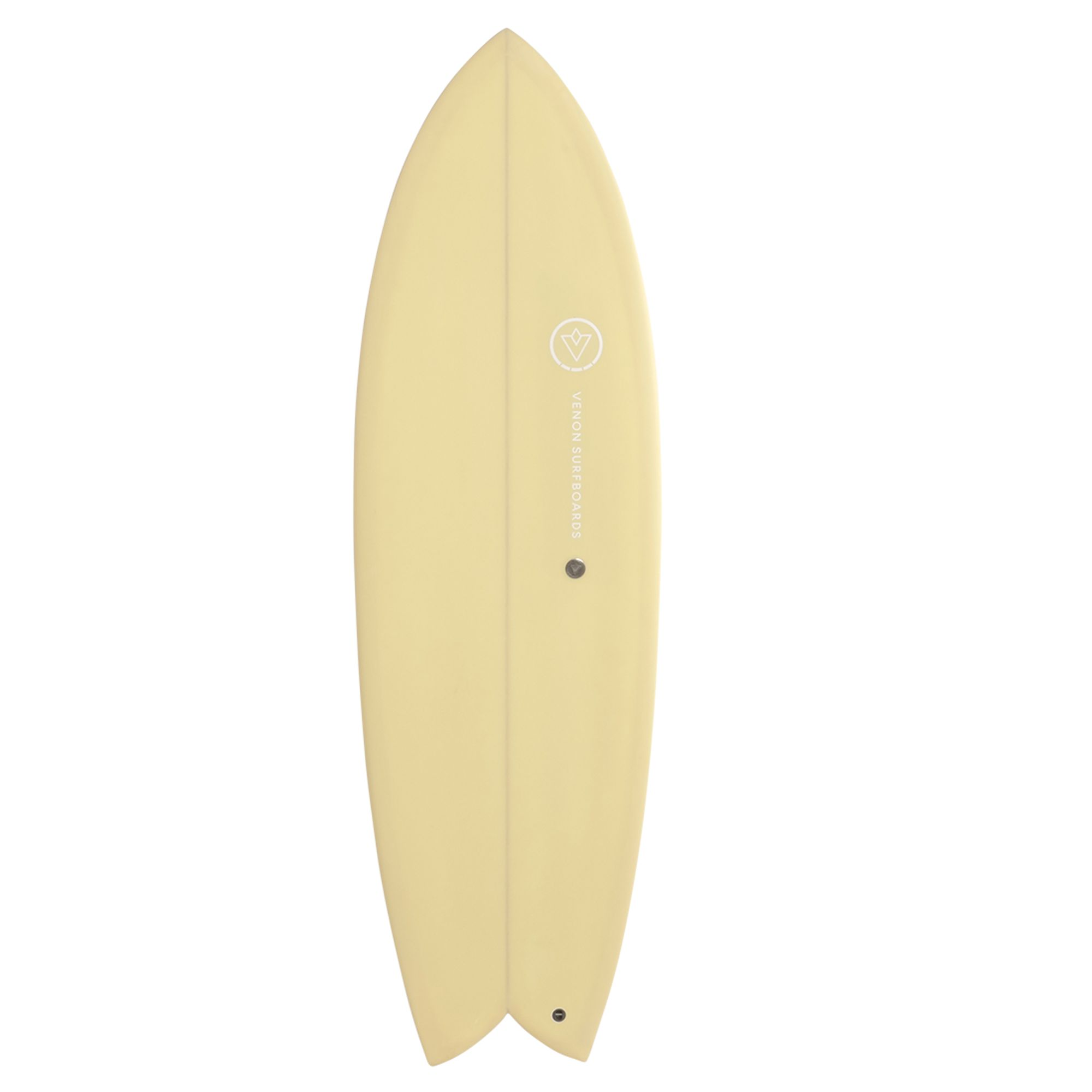 Surfboard VENON Node 5.9 Twinfin Retro Fish pastel