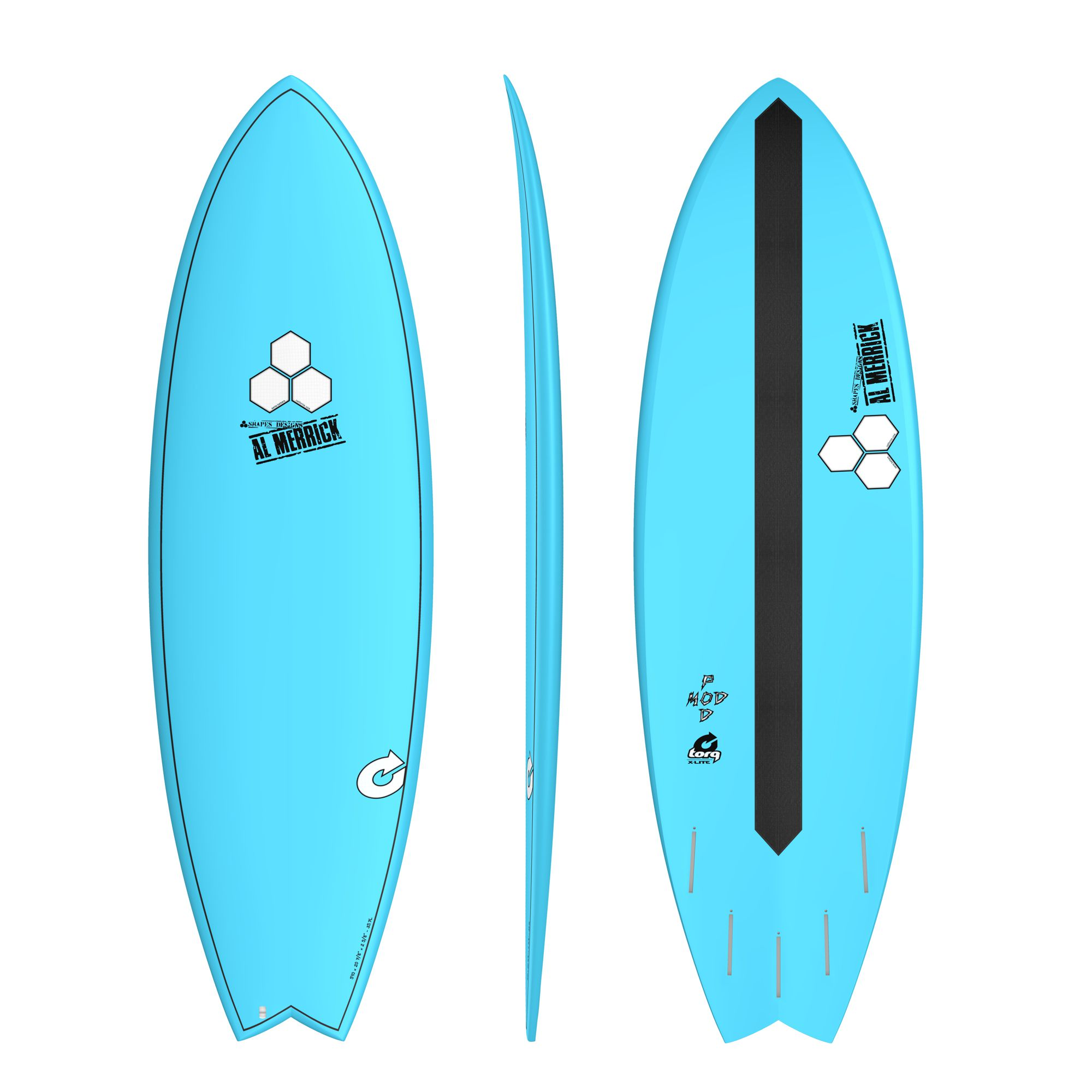 Surfboard CHANNEL ISLANDS X-lite Pod Mod 5.6 blue