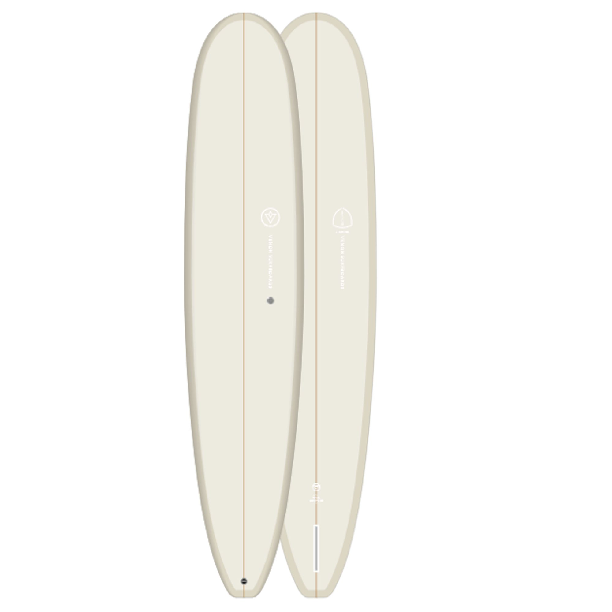 Surfboard VENON Landmark 9.2 Longboard Cream