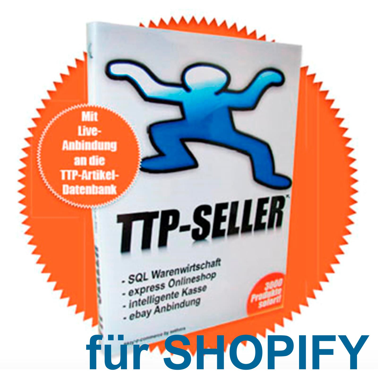 TTP SELLER Connector für Shopify Alle TTP Artikel in Deinem Shopify Onlineshop